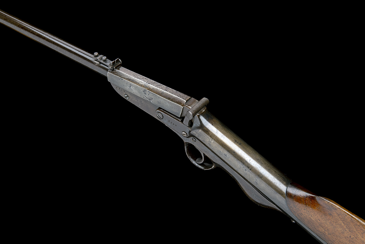 Lot 11 - C.G. BONEHILL, BIRMINGHAM A SCARCE .177 BREAK-BARREL AIR-RIFLE, MODEL 'THE BRITANNIA 'ANGLO SURE-