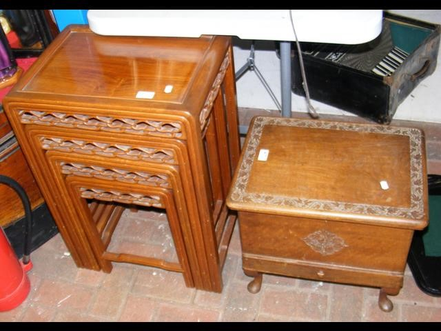 Lot 47 - A nest of four oriental occasional tables, togethe
