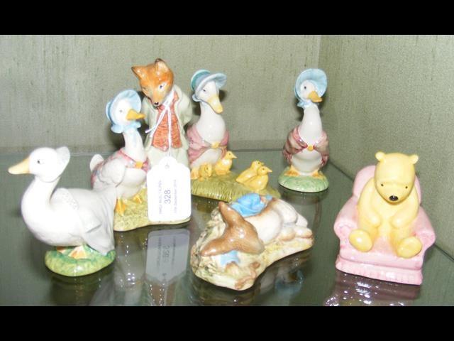 Lot 328 - Two Royal Albert figures - Jemima Puddle duck, fox