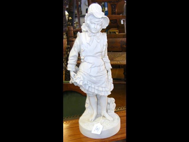 Lot 50 - A 45cm high Parian figure of a lady