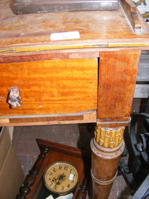 Lot 13 - A 19th century satinwood side table, having legs d