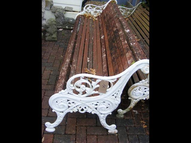 Lot 14 - A 230cm garden bench - for restoration