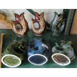 Lot 34 - Six Fosters fish jugs