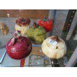 Lot 27 - Five SylvaC preserve pots (one a/f)