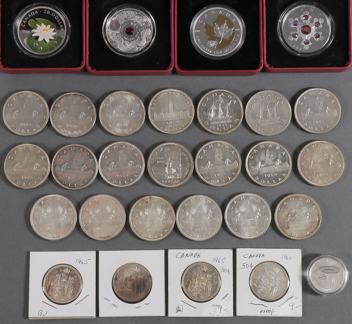 Lot 494 - 29 CANADIAN SILVER SPECIMENS