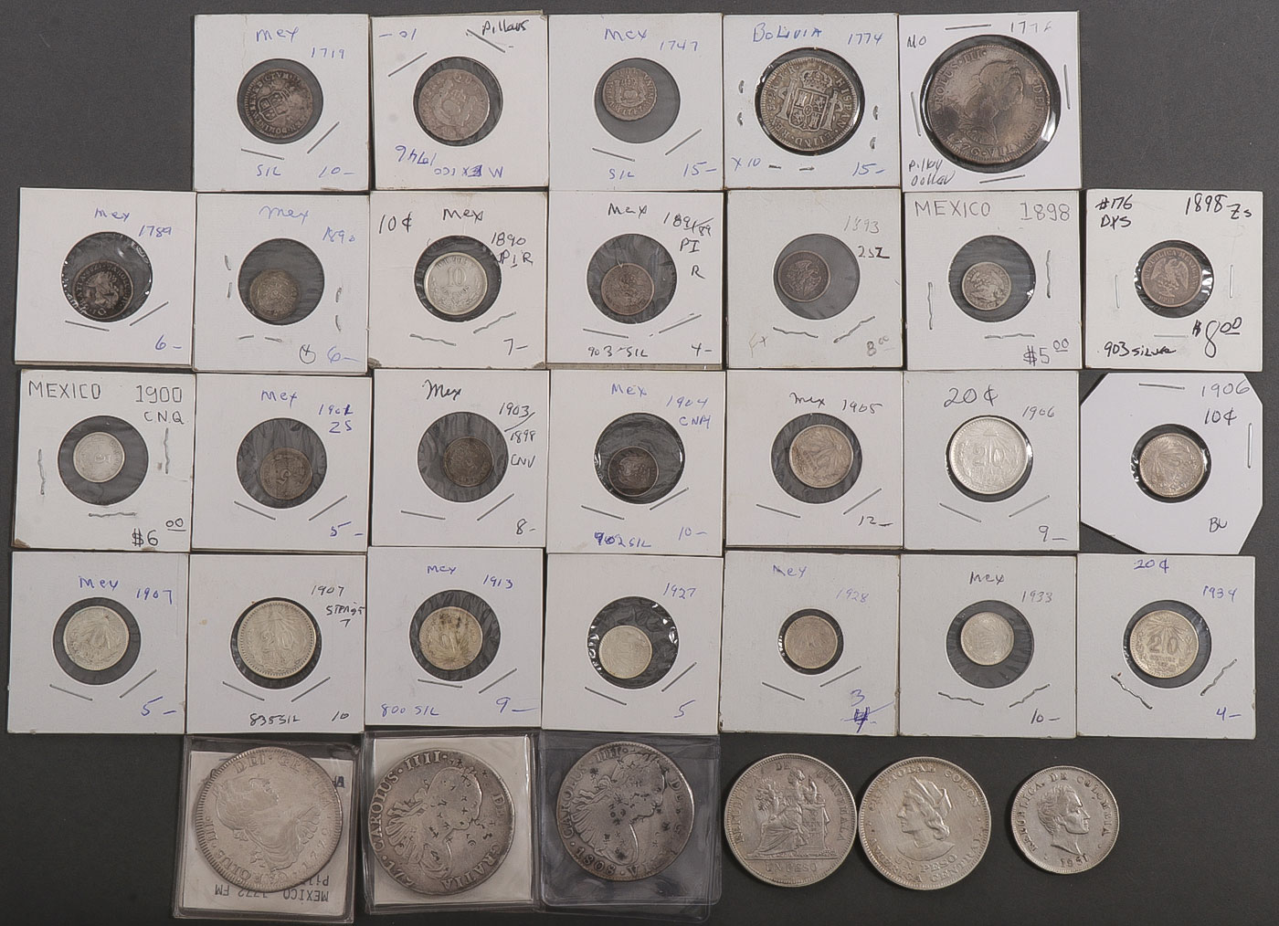 Lot 491 - 32 CENTRAL & SOUTH AMERICAN SILVER PIECES