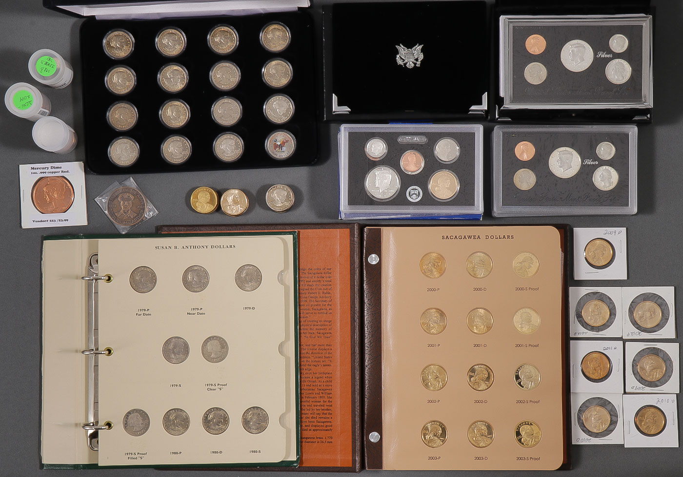 Lot 479 - U.S. PROOF SETS AND DOLLAR COINS