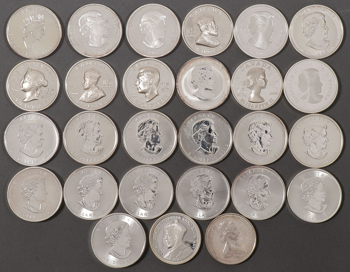 Lot 496 - 27 SILVER CANADIAN COMMEMORATIVES