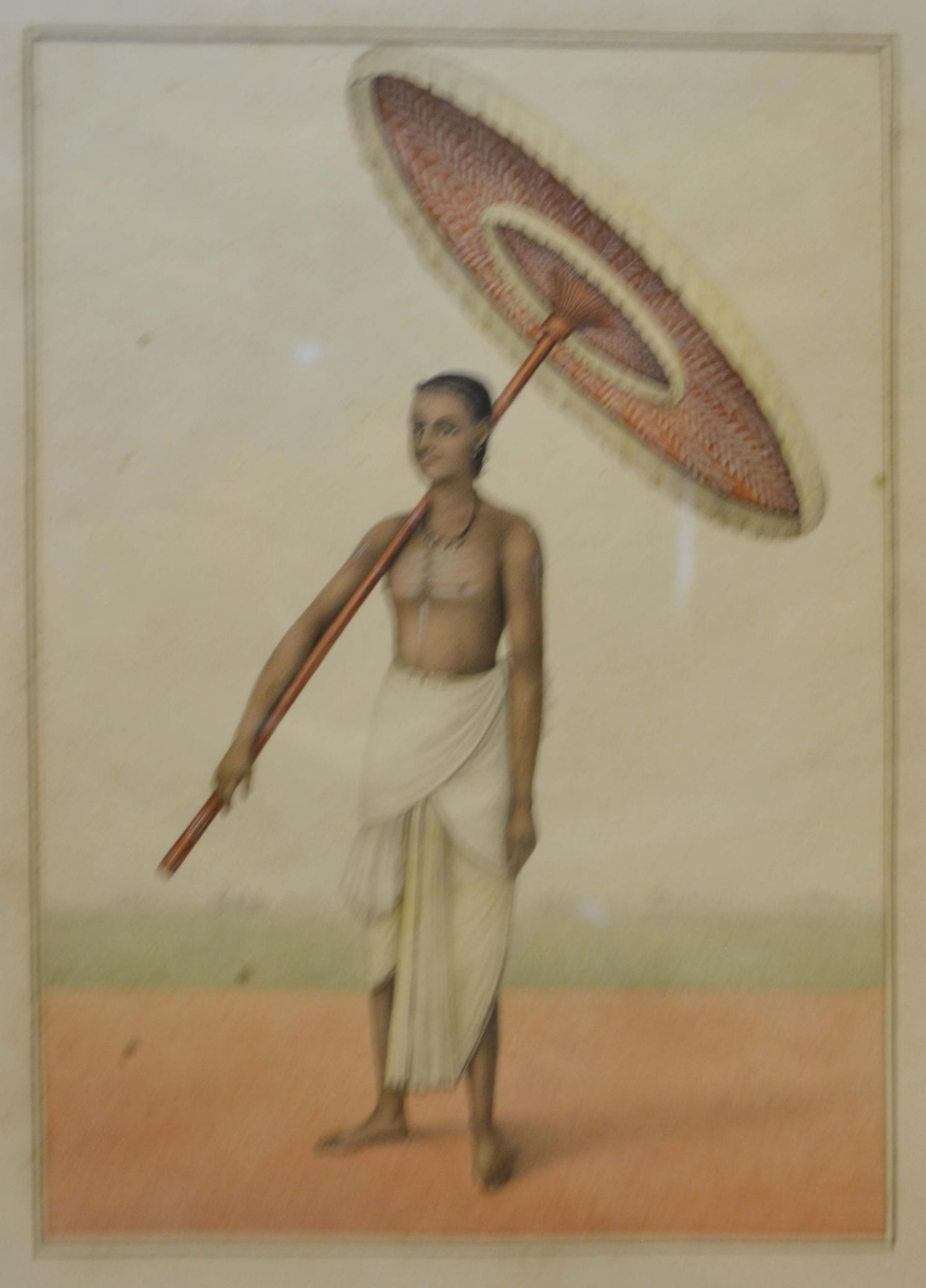 Lot 75 - A Set of Eight Indian Watercolours, each depicting figures, 20 x 16cm