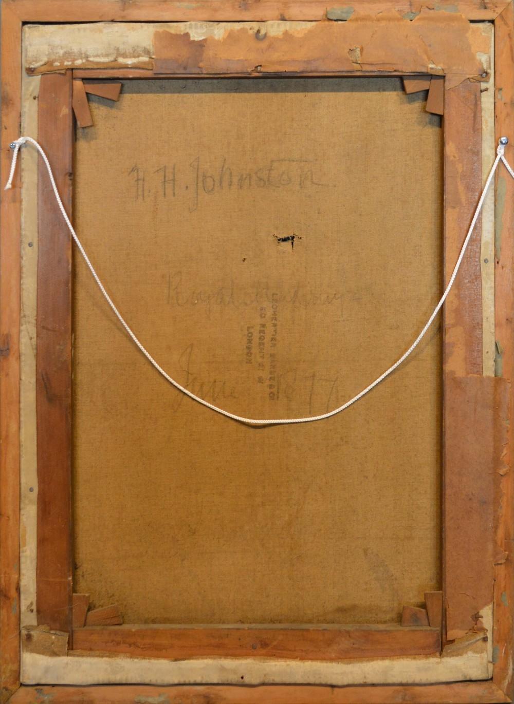 Lot 61 - Harry Hamilton Johnston, 1858-1927, England, Still Life with Carafe, oil on canvas, signed verso