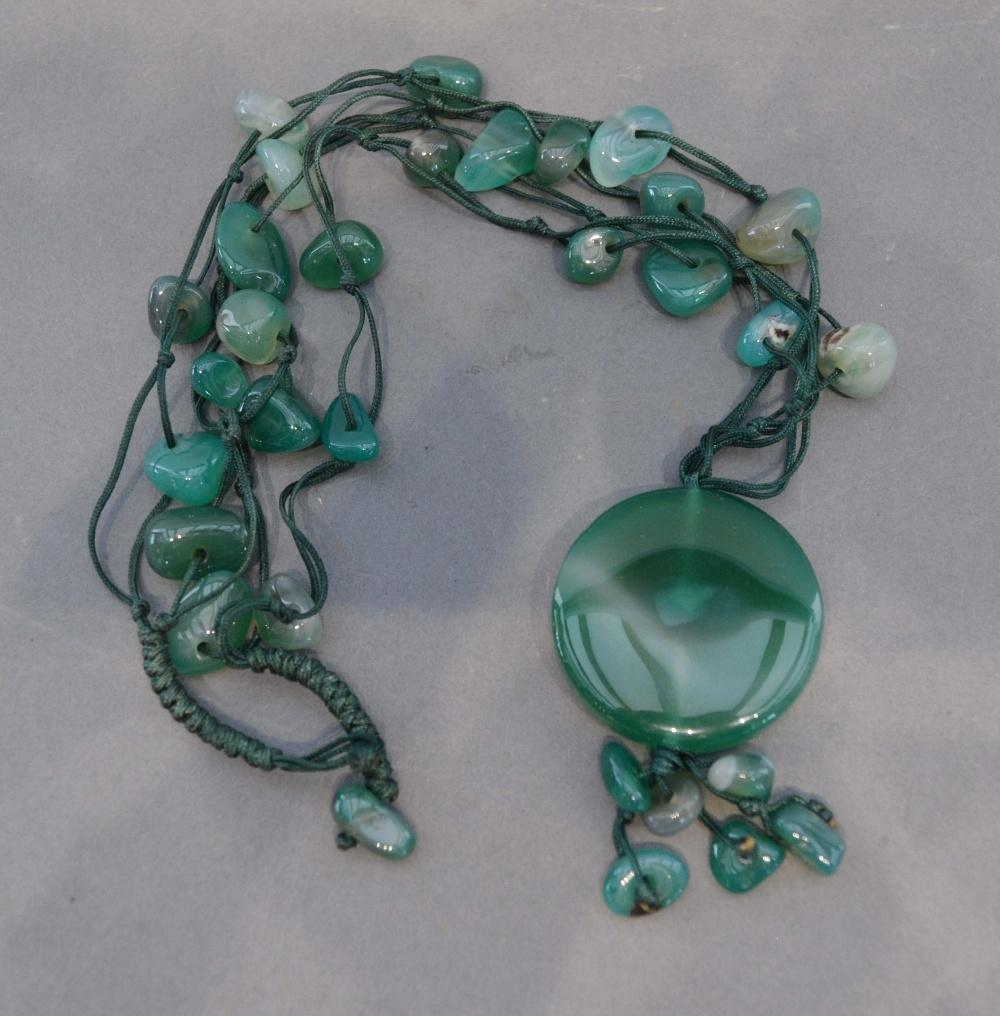 Lot 101 - A Chinese Jade Set Necklace