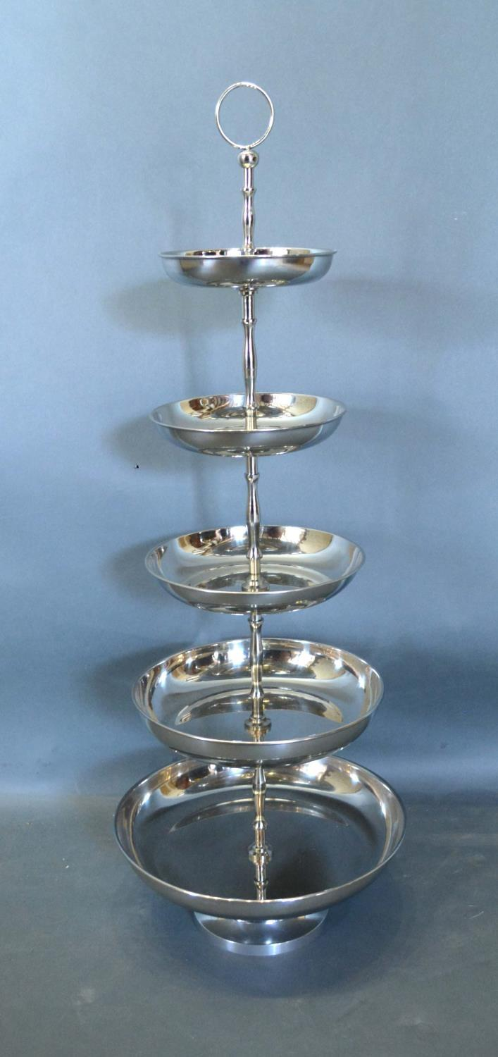 Lot 310 - A Five Tier Cake Stand Of Circular Form, 80cm tall