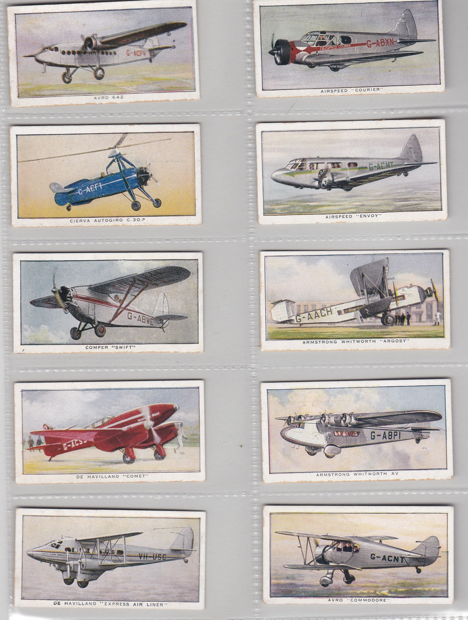 Lot 189 - United Tob Cos (South) Ltd (S Africa) Aeroplanes of To-day 1936 set 50/50 VG/EX