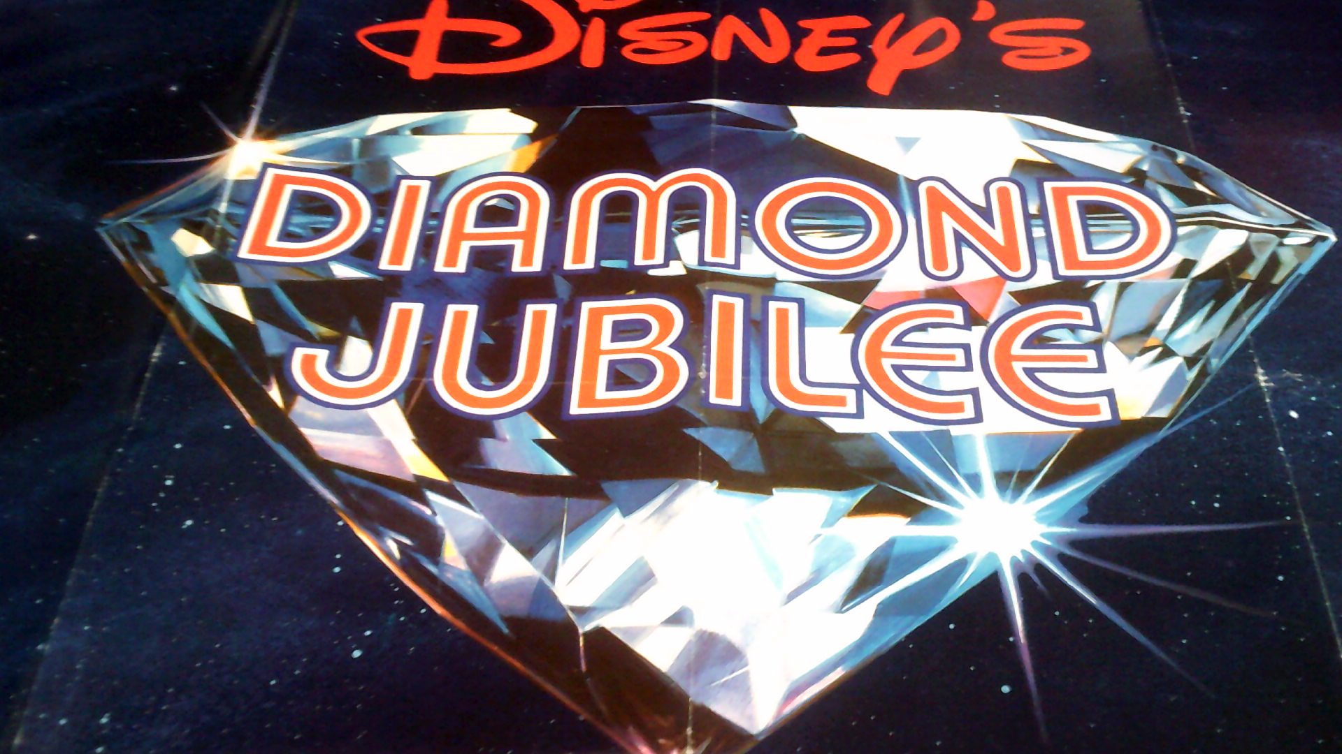 """Lot 33 - Poster-Disney's-Diamond Jubilee' 1983- Sixty Sparkling Years Good Condition approx. 30 x 38"""""""