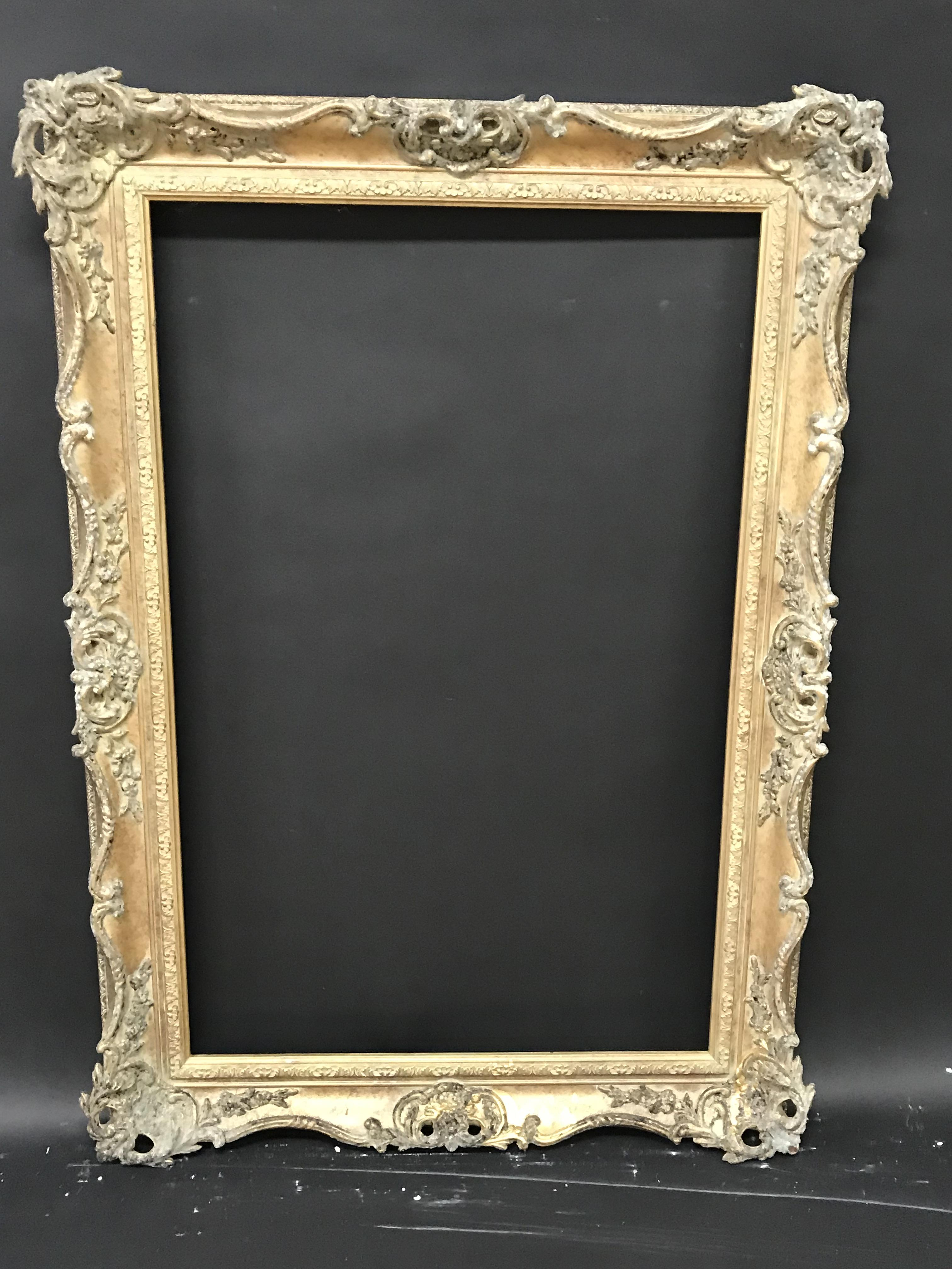 Lot 19 - 20th Century English School. A Gilt Composition Frame, with Swept and Pierced Centres and Corners,