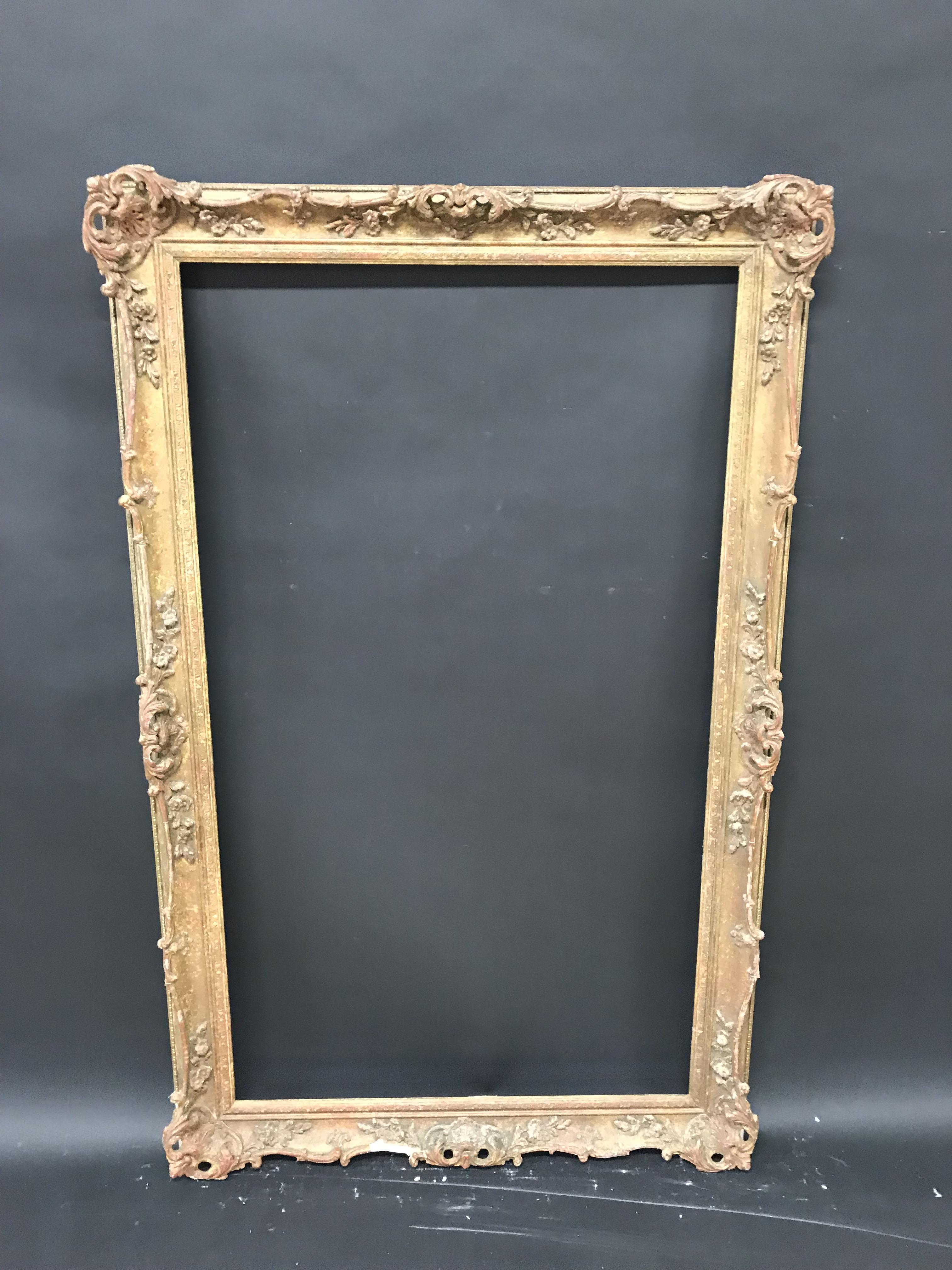 Lot 34 - 20th Century English School. A Gilt Composition Frame, with Swept and Pierced Centres and Corners,