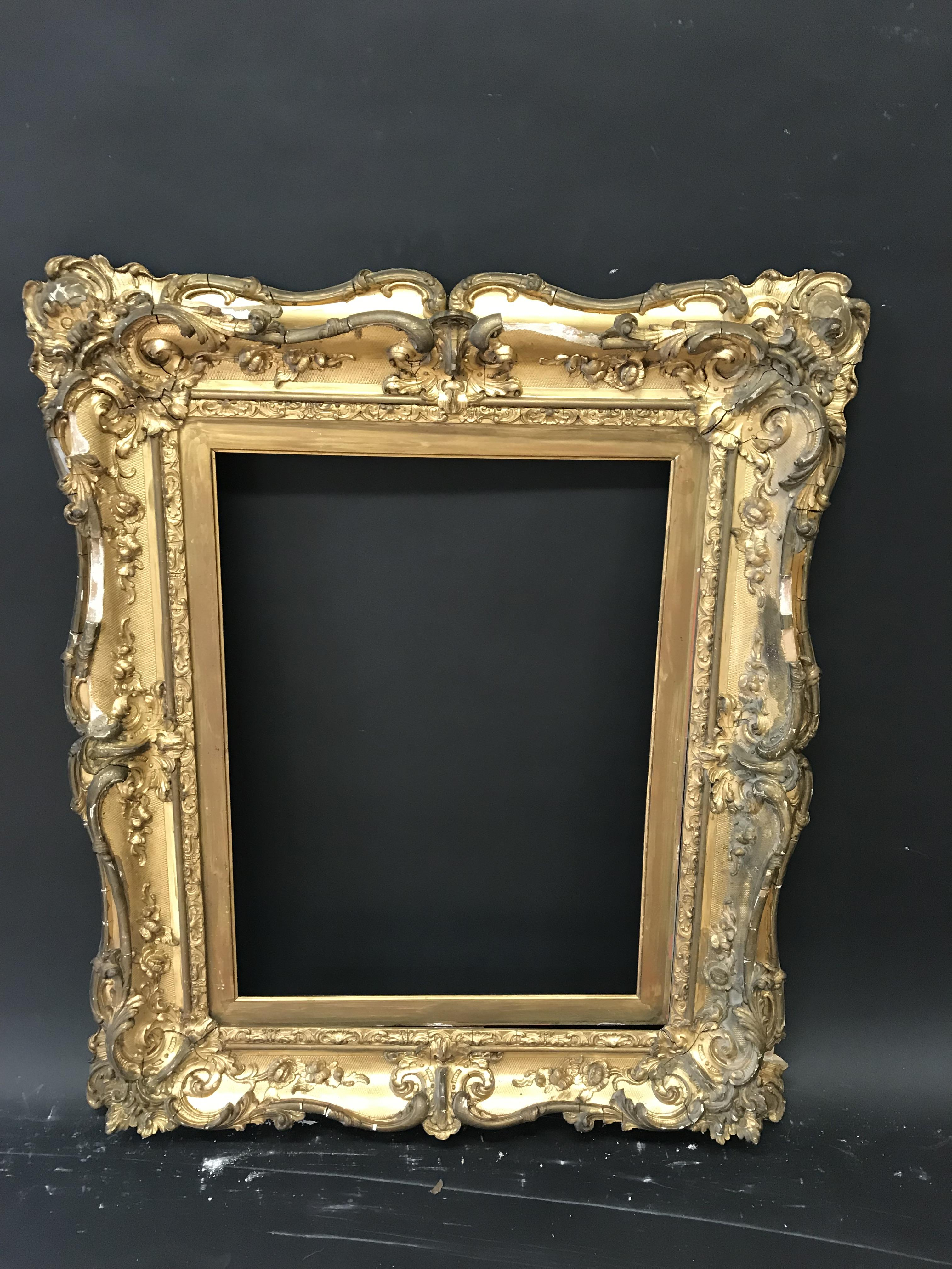 """Lot 60 - 19th Century English School. A Gilt Composition Frame, with Swept Centres and Corners, 24"""" x 18"""" ("""