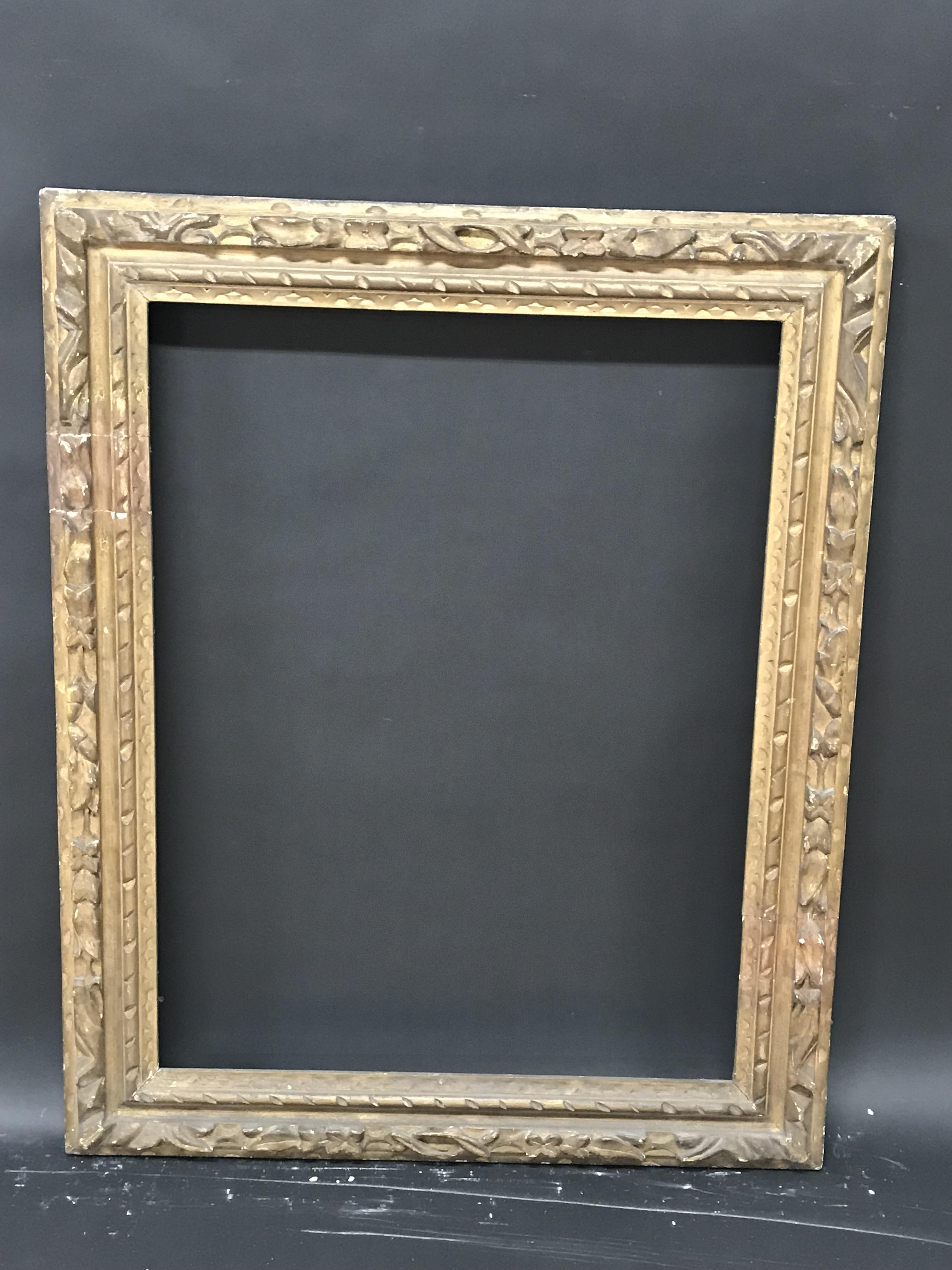 """Lot 30 - Early 19th Century English School. A Carved Giltwood Frame, 32"""" x 24.5"""" (rebate)."""