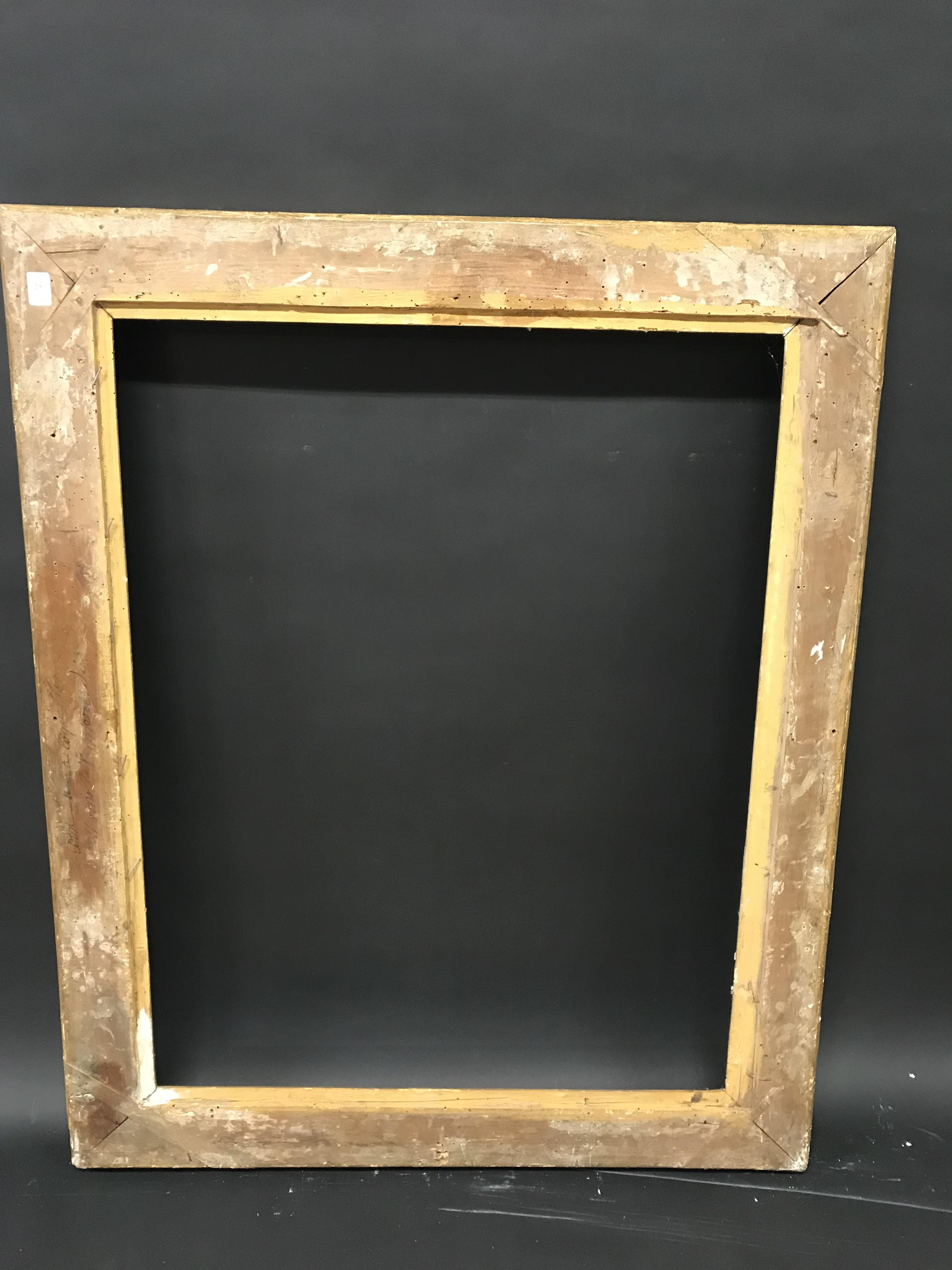 "Lot 25 - 19th Century French School. A Gilt Empire Frame, 36"" x 28"" (rebate)."
