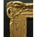 Lot 16 - 20th Century English School. A Gilt Composition Frame, with Swept and Pierced Centres and Corners,