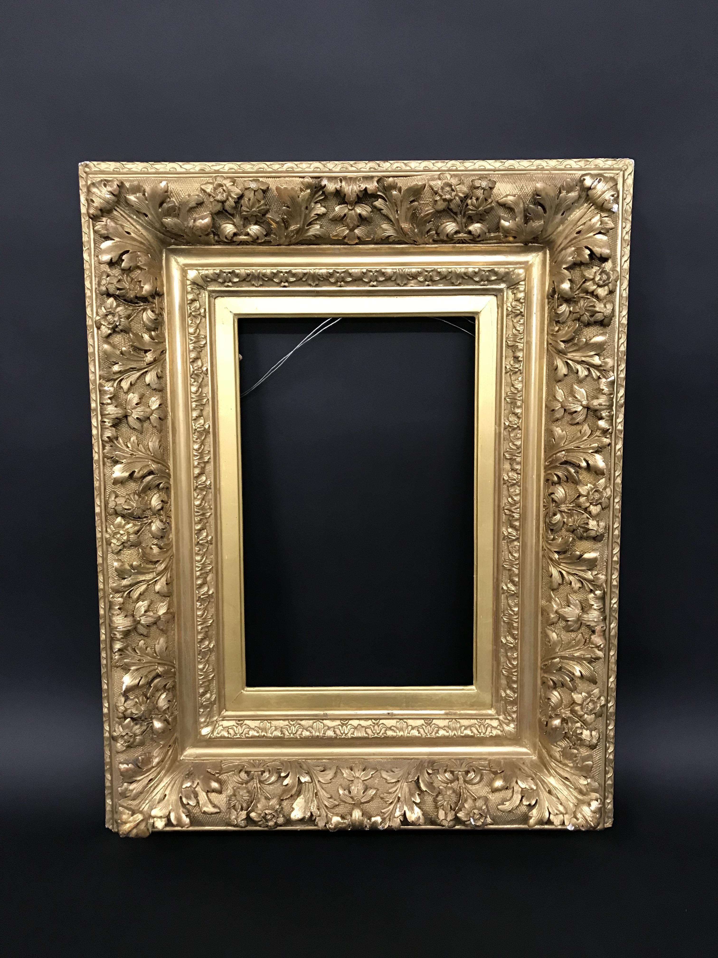 "Lot 54 - 19th Century French School. A Fine Gilt Composition Barbizon Frame, 16"" x 10"" (rebate)."