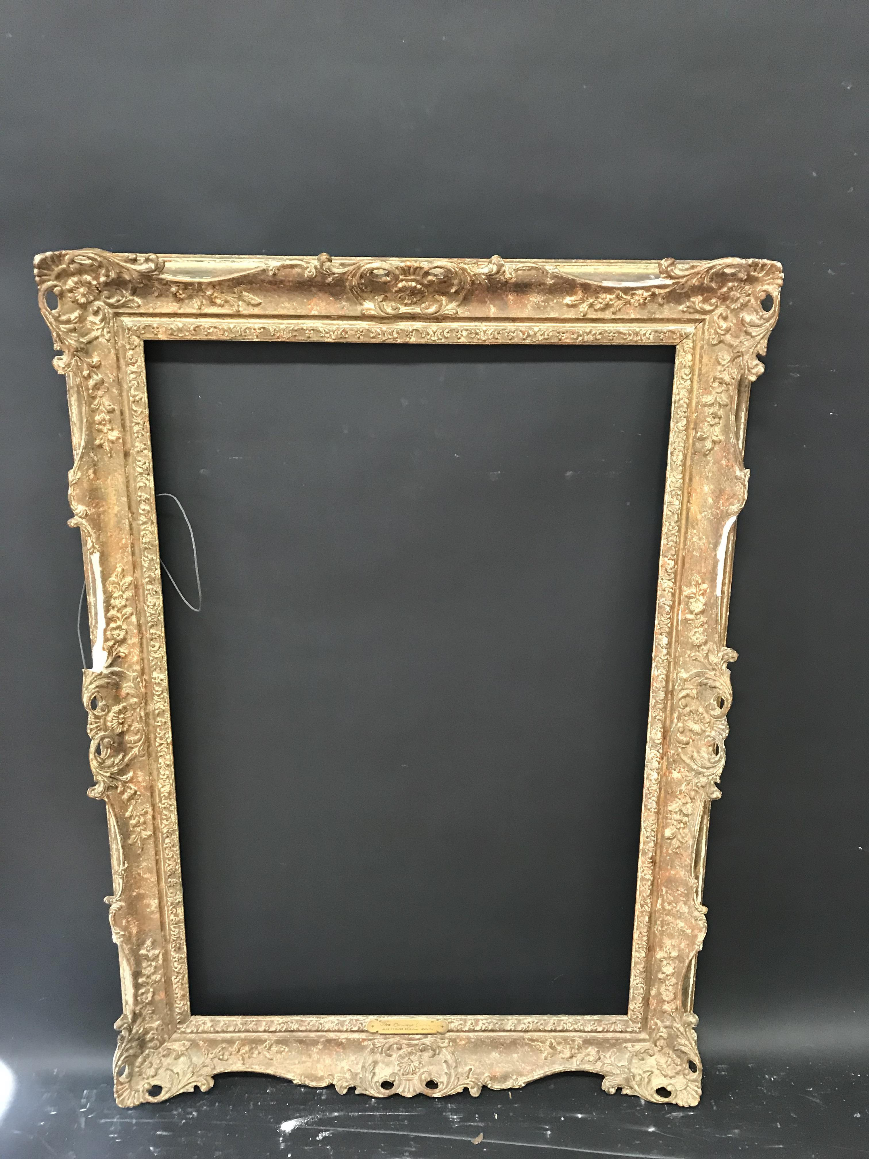Lot 51 - 20th Century English School. A Gilt Composition Frame, with Swept and Pierced Centres and Corners,