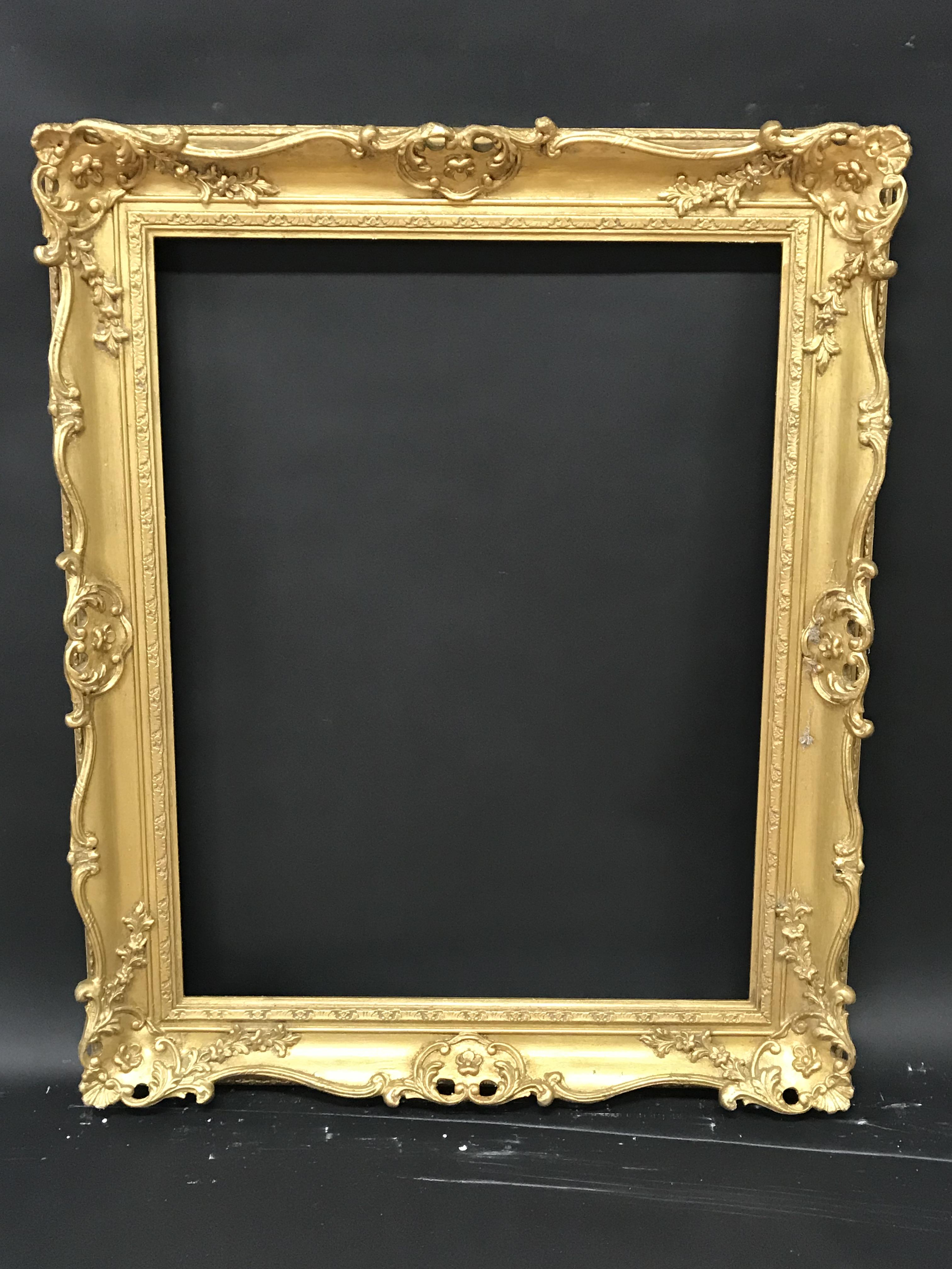 Lot 18 - 20th Century English School. A Gilt Composition Frame, with Swept and Pierced Centres and Corners,