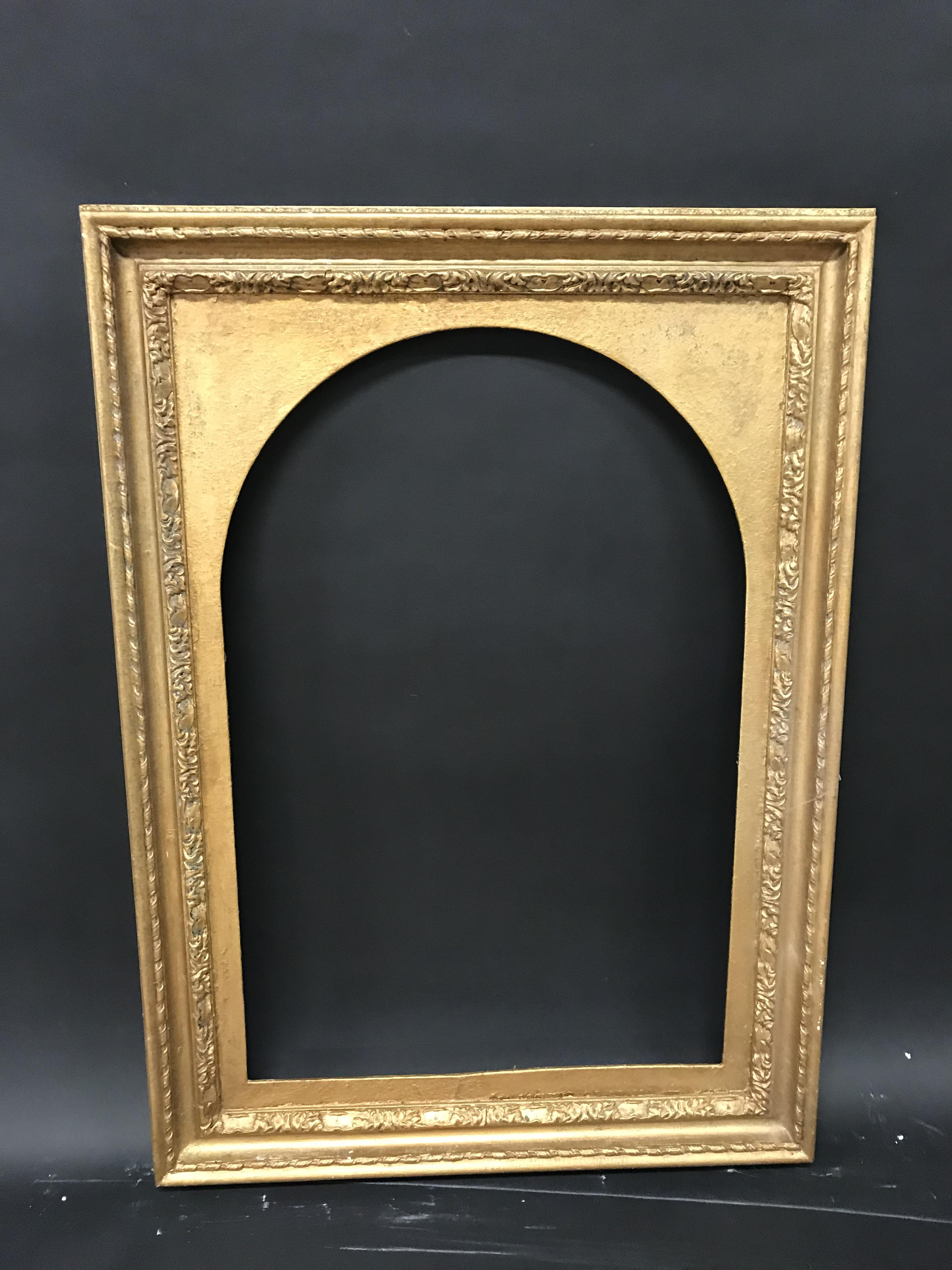 """Lot 12 - 20th Century English School. A Gilt Composition Frame with an Inset Arched Slip, 30"""" x 20"""" ("""