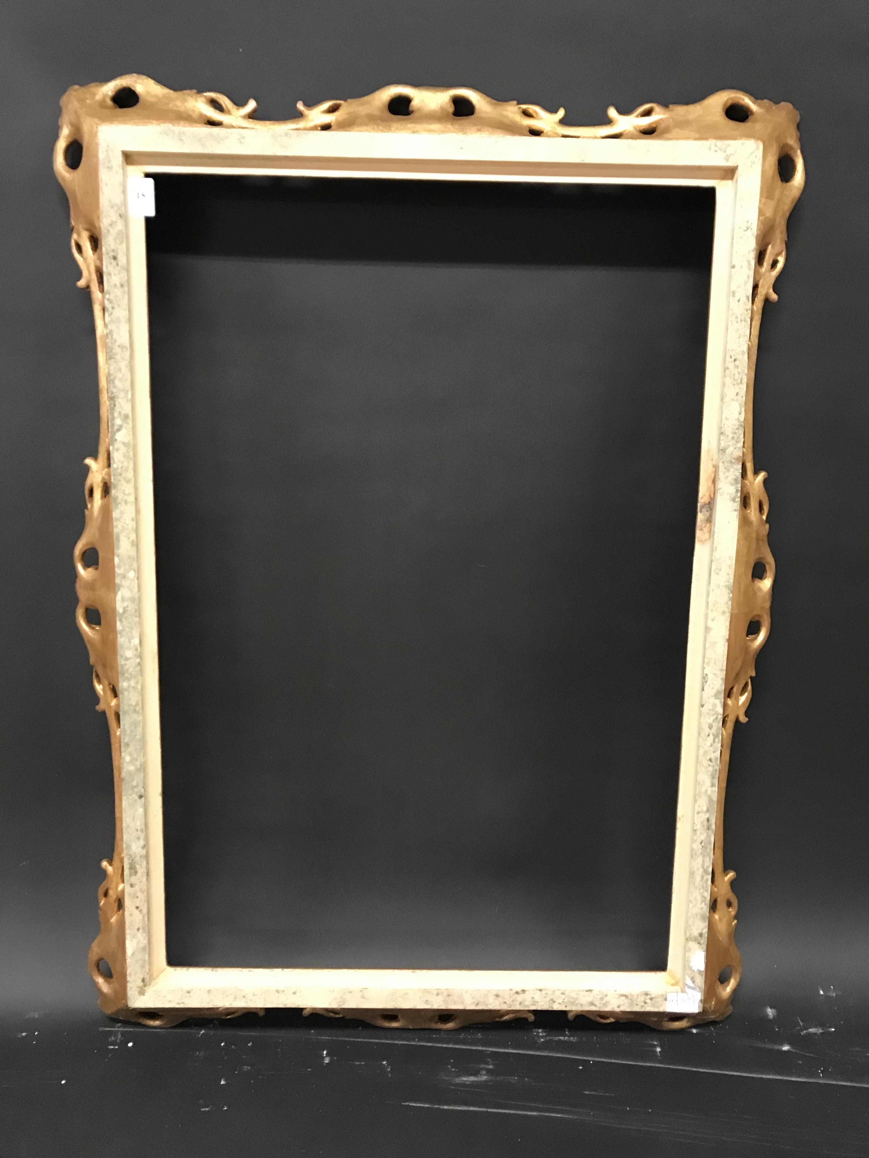 Lot 15 - 20th Century English School. A Carved Giltwood Frame, with Swept and Pierced Centres and Corners,
