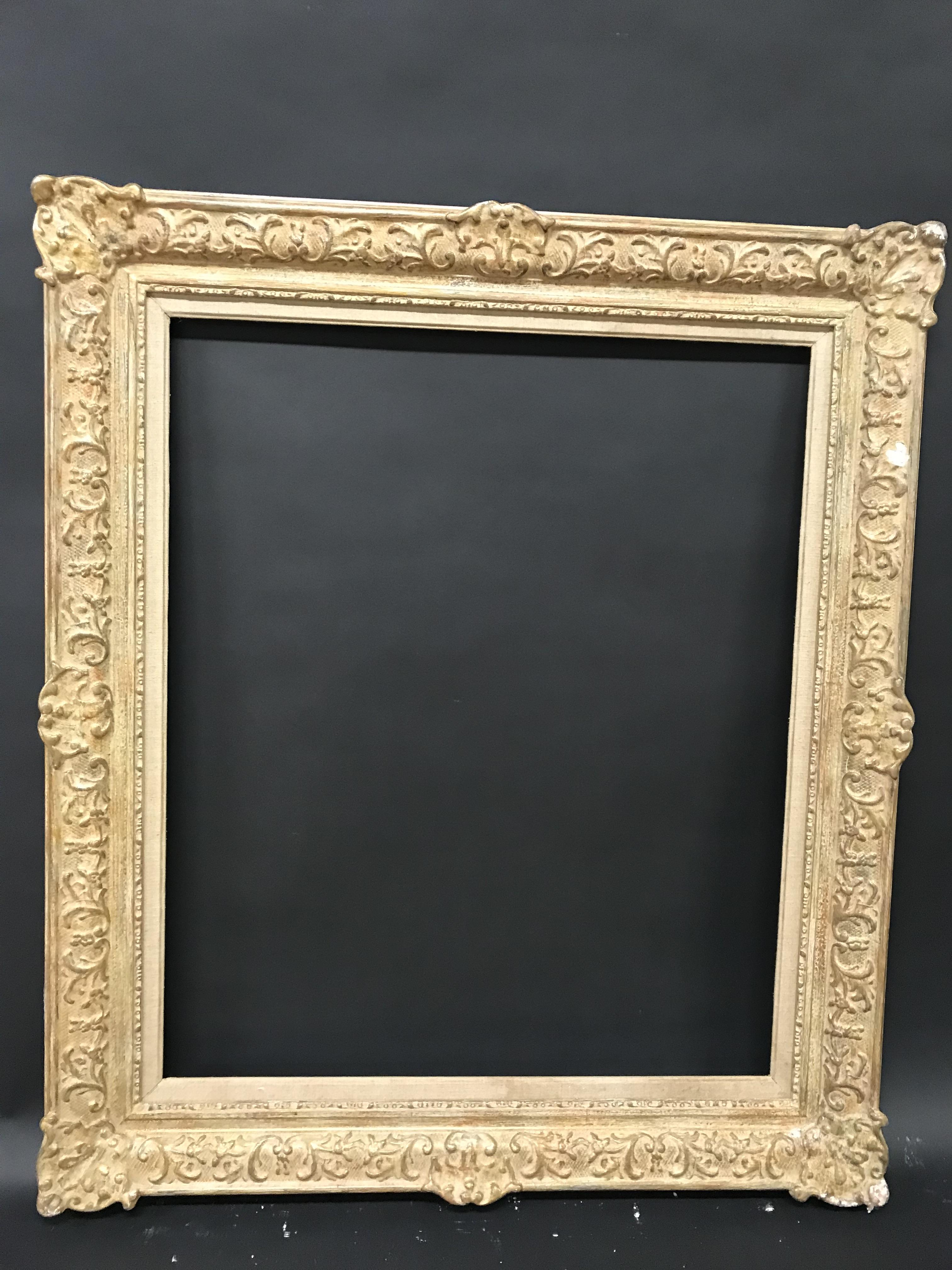 Lot 4 - 20th Century English School. A Painted Composition Frame, with Swept Centres and Corners, with