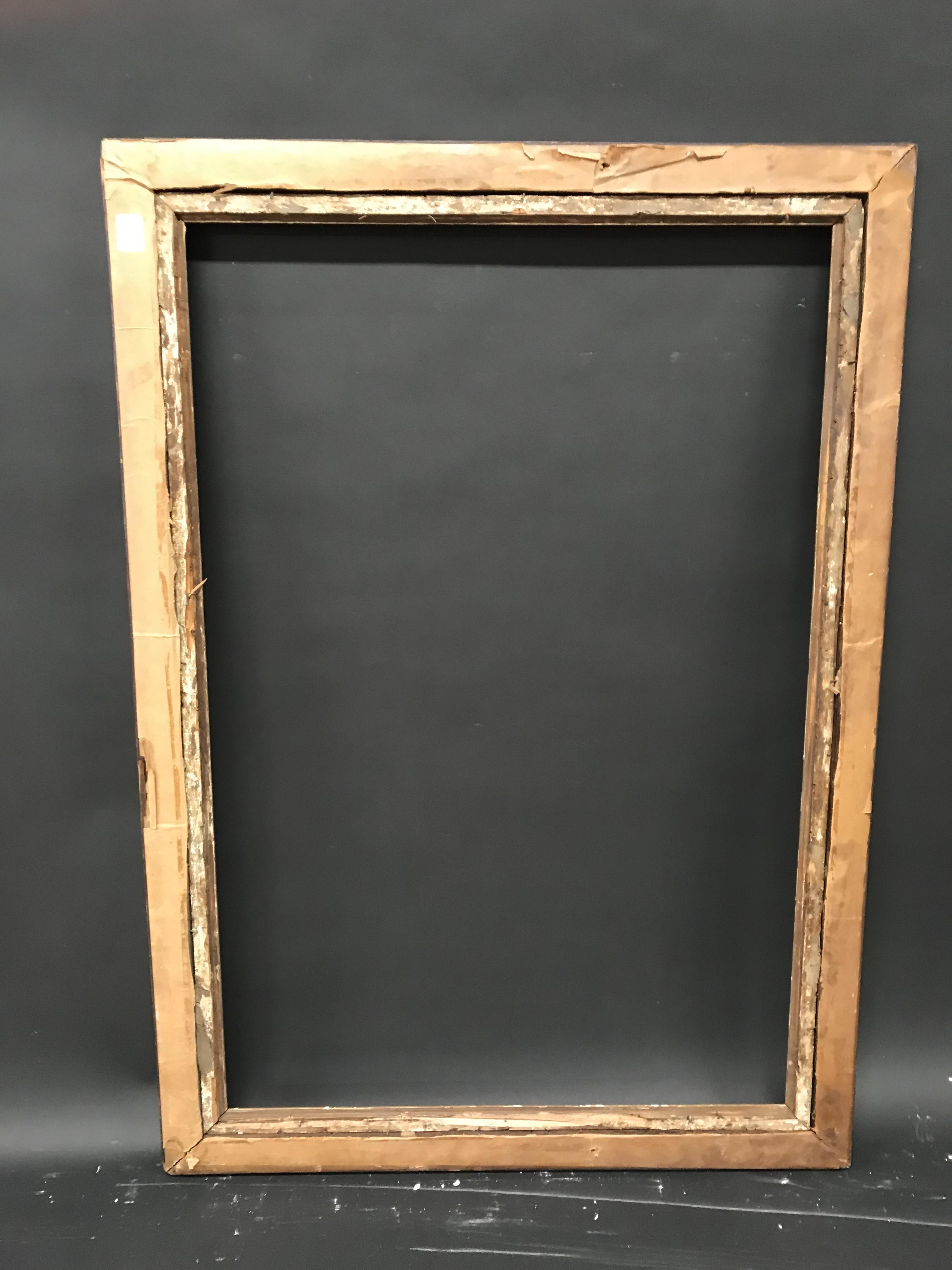 "Lot 24 - 19th Century English School. A Birdseye Maple Frame, with a Gilt Slip, 36.25"" x 24.5"" (rebate)."