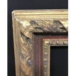 "Lot 11 - 19th Century English School. A Gilt Composition and Red Painted Frame, 42"" x 24"" (rebate)."