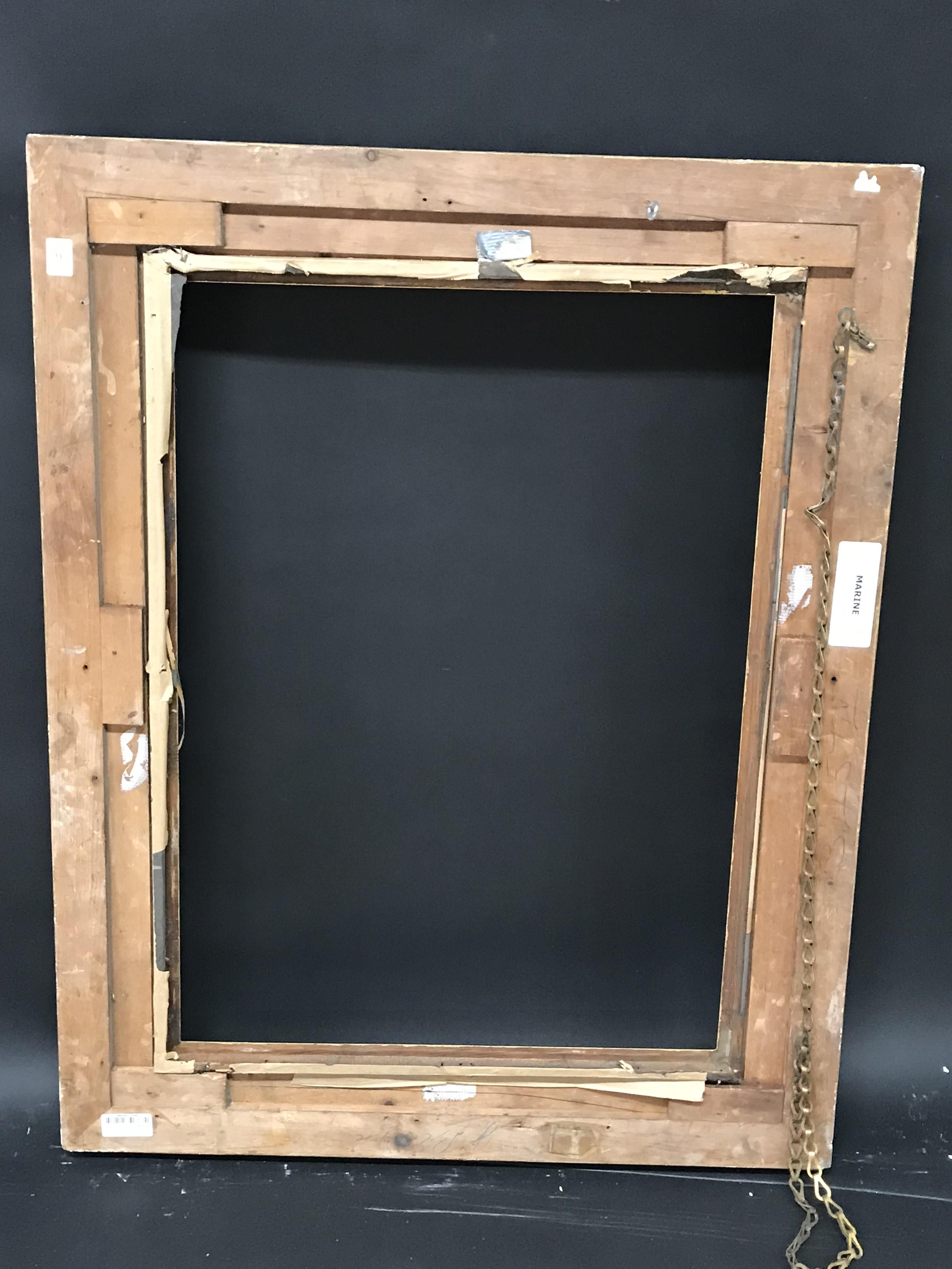 Lot 31 - 19th Century English School. A Gilt Composition Frame, with Swept and Pierced Centres and Corners,