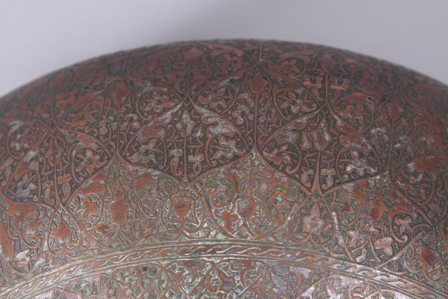 Lot 34 - A LARGE 18TH - 19TH CENTURY INDO PERSIAN ENGRAVED COPPER BOWL.