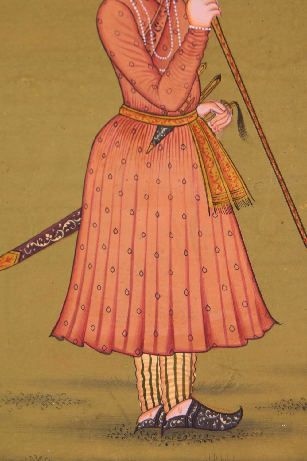 Lot 60 - A GOOD 19TH / 20TH CENTURY INDO PERSIAN MUGHAL ART HAND PAINTED PICTURE ON PAPER, the picture