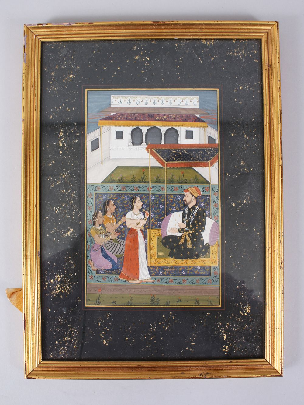 Lot 14 - A 20TH CENTURY MINIATURE PICTURE, 20cm x 12cm, framed and glazed.