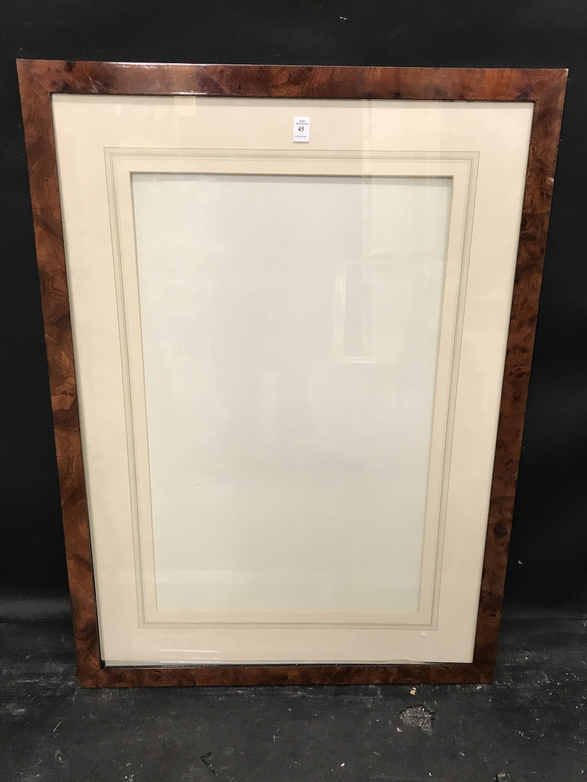 """Lot 45 - 20th Century English School. A Maple Style Watercolour Frame, 28.5"""" x 17.5"""", without mount 36.5"""" x"""