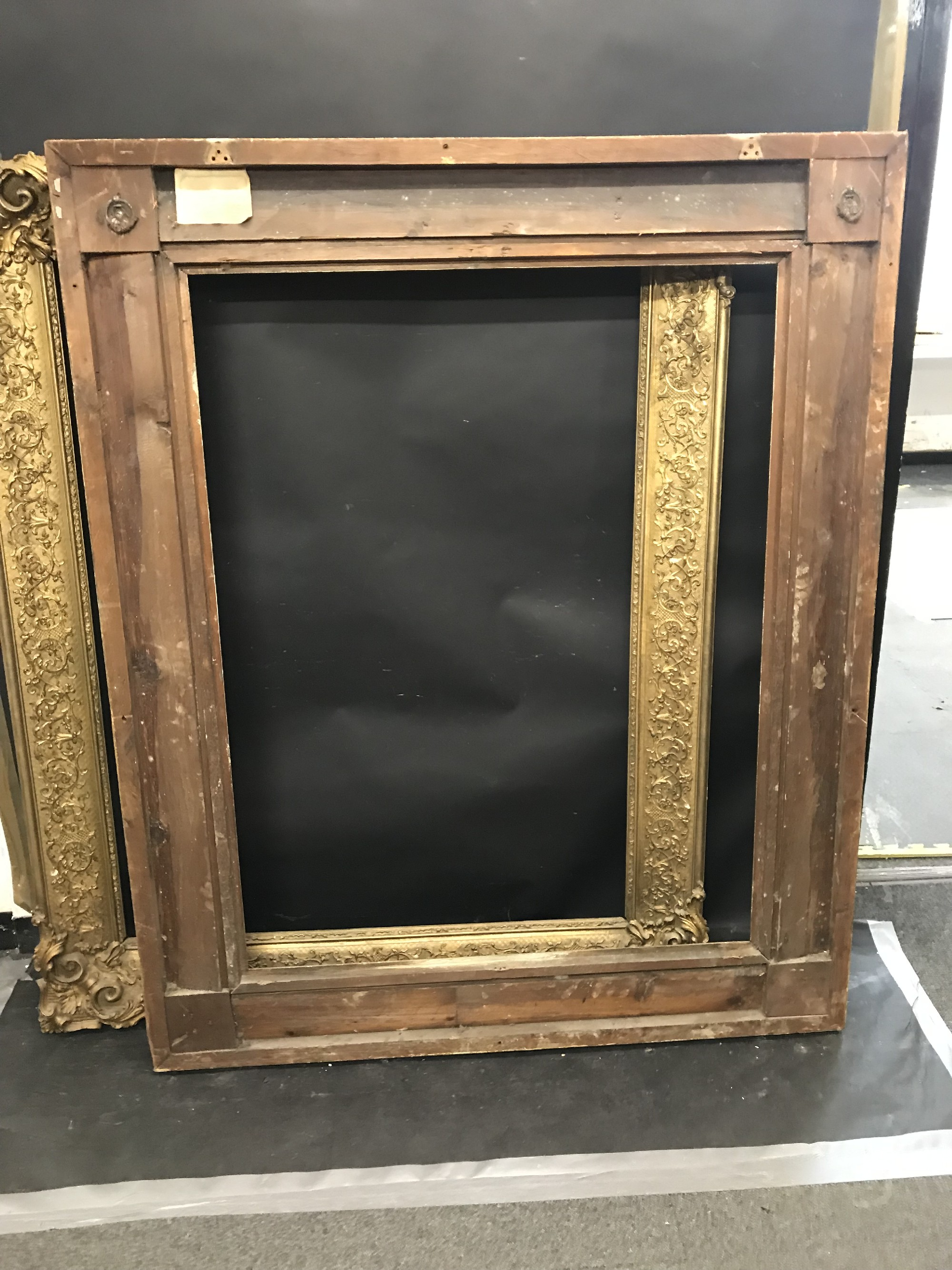 "Lot 3 - 19th Century English School. A Gilt Composition Frame, with Swept Corners, 46.25"" x 36.25"", and a"