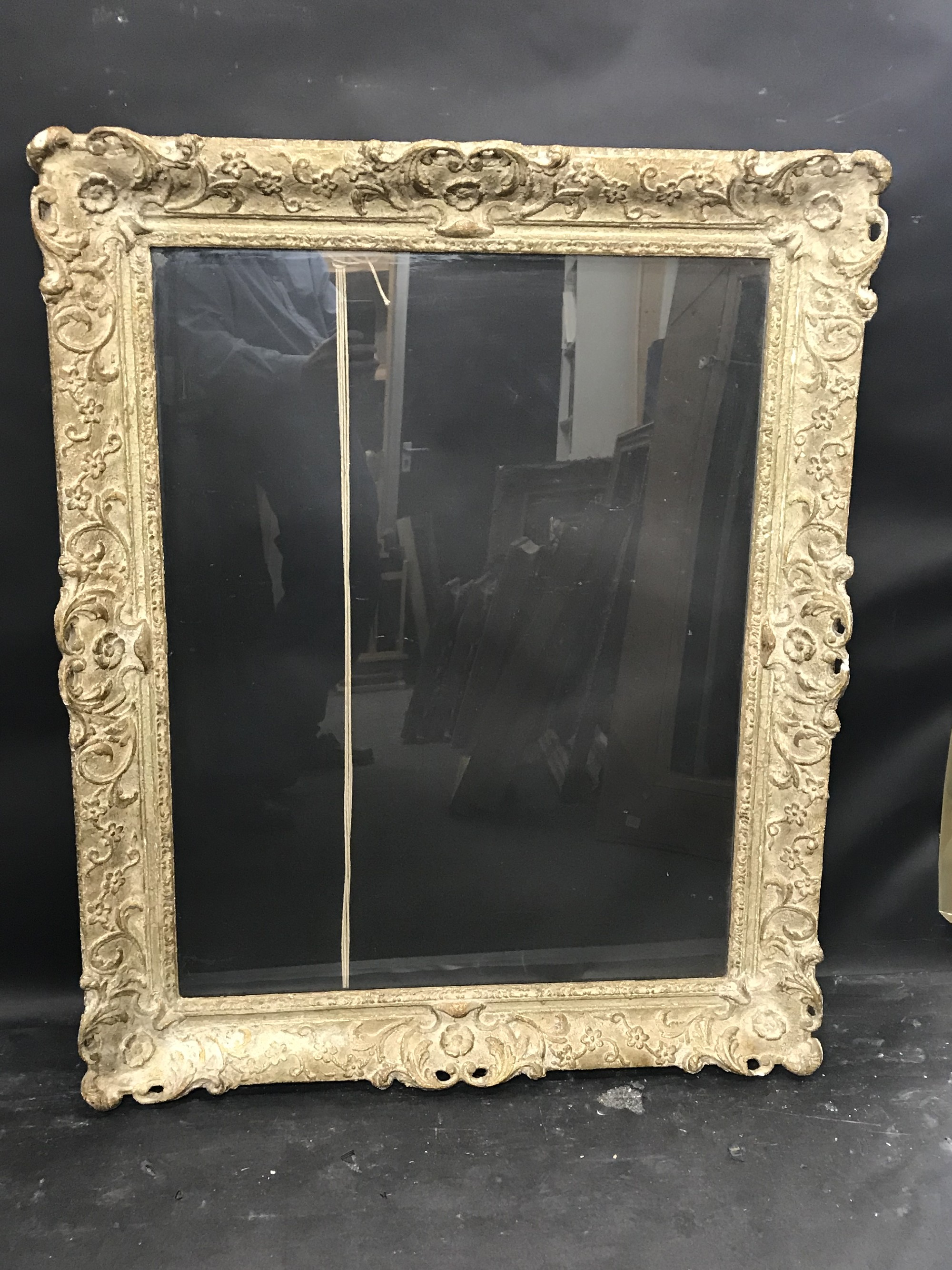 Lot 4 - 20th Century English School. A Painted Composition Frame, with Swept, Pierced Centres and Corners,