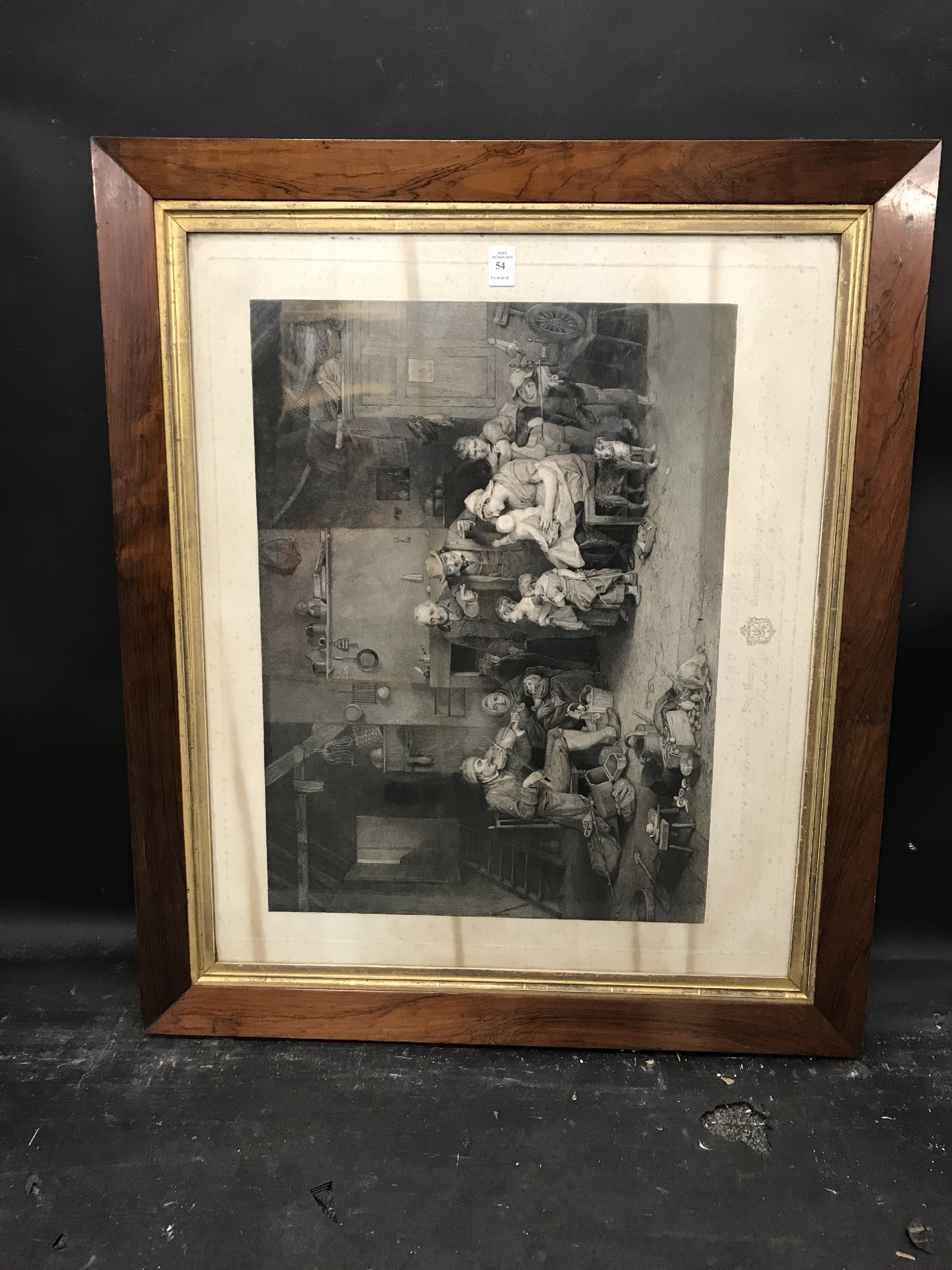 """Lot 54 - 19th Century English School. A Maple and Gilt Frame, with inset Print under glass, 26.5"""" x 22""""."""