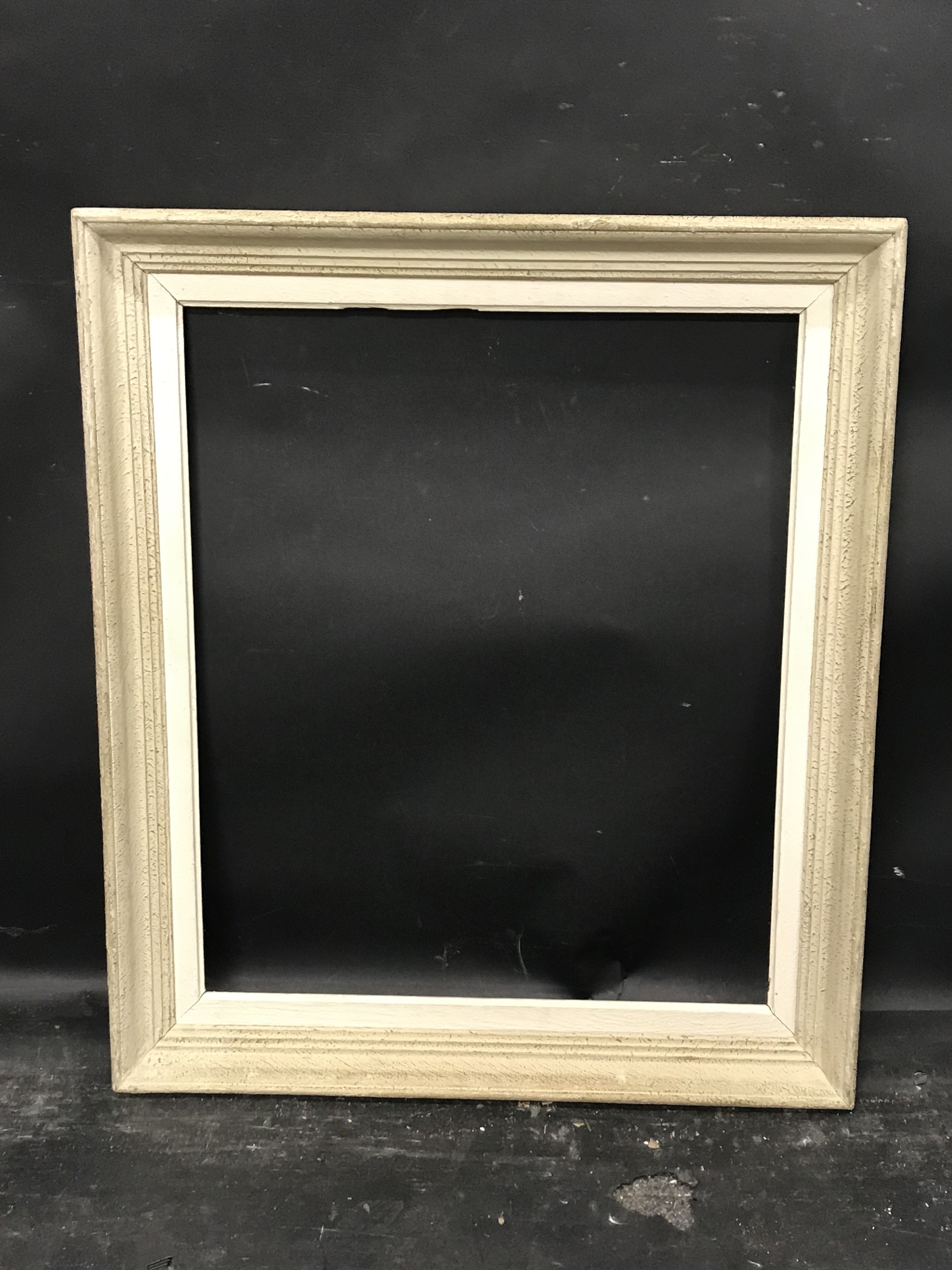 "Lot 60 - 20th Century French School. A White Painted Frame, 21.75"" x 18.25""."