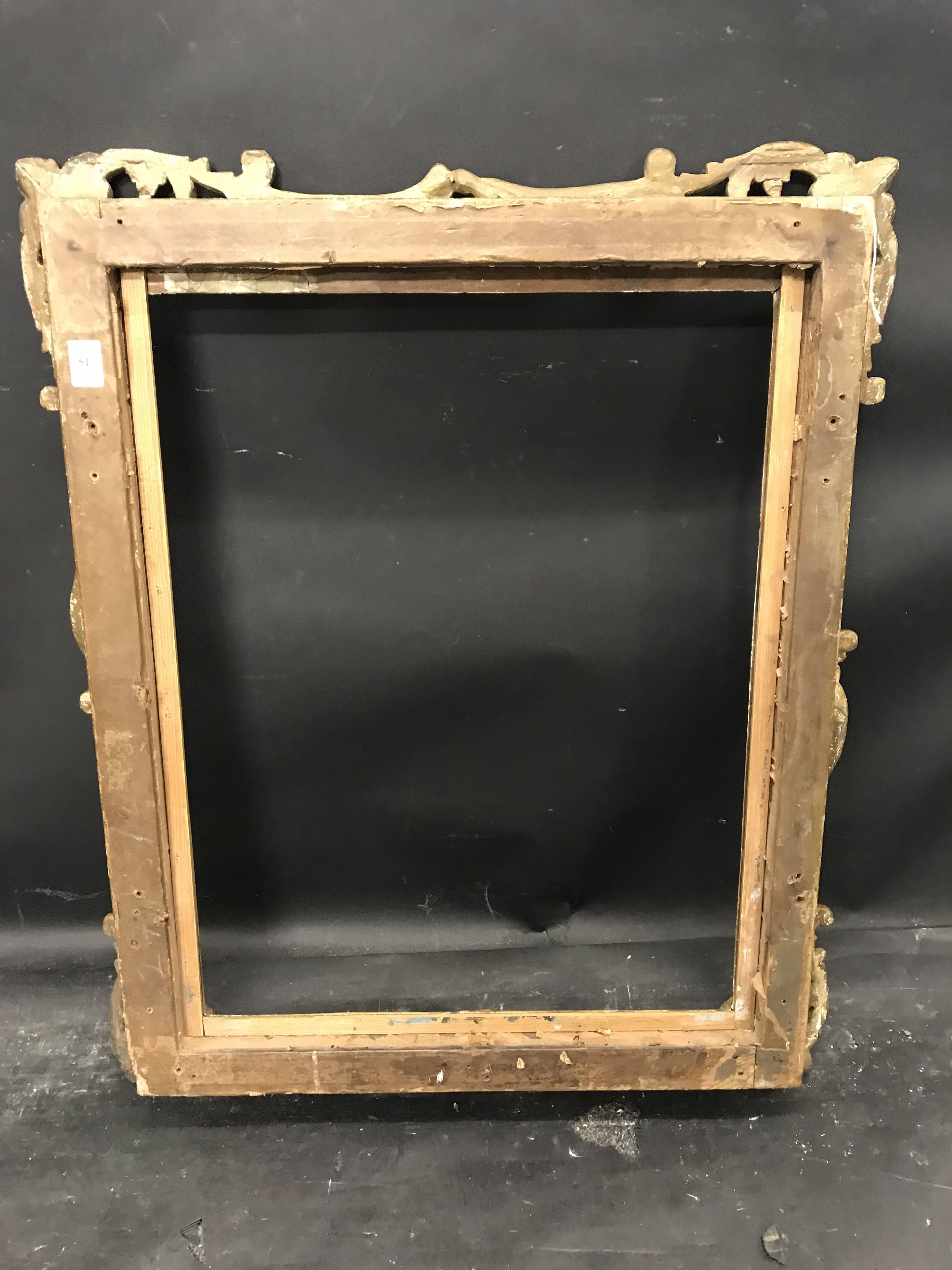 Lot 51 - 19th Century English School. A Carved Giltwood Frame, with Swept and Pierced Centres and Corners,