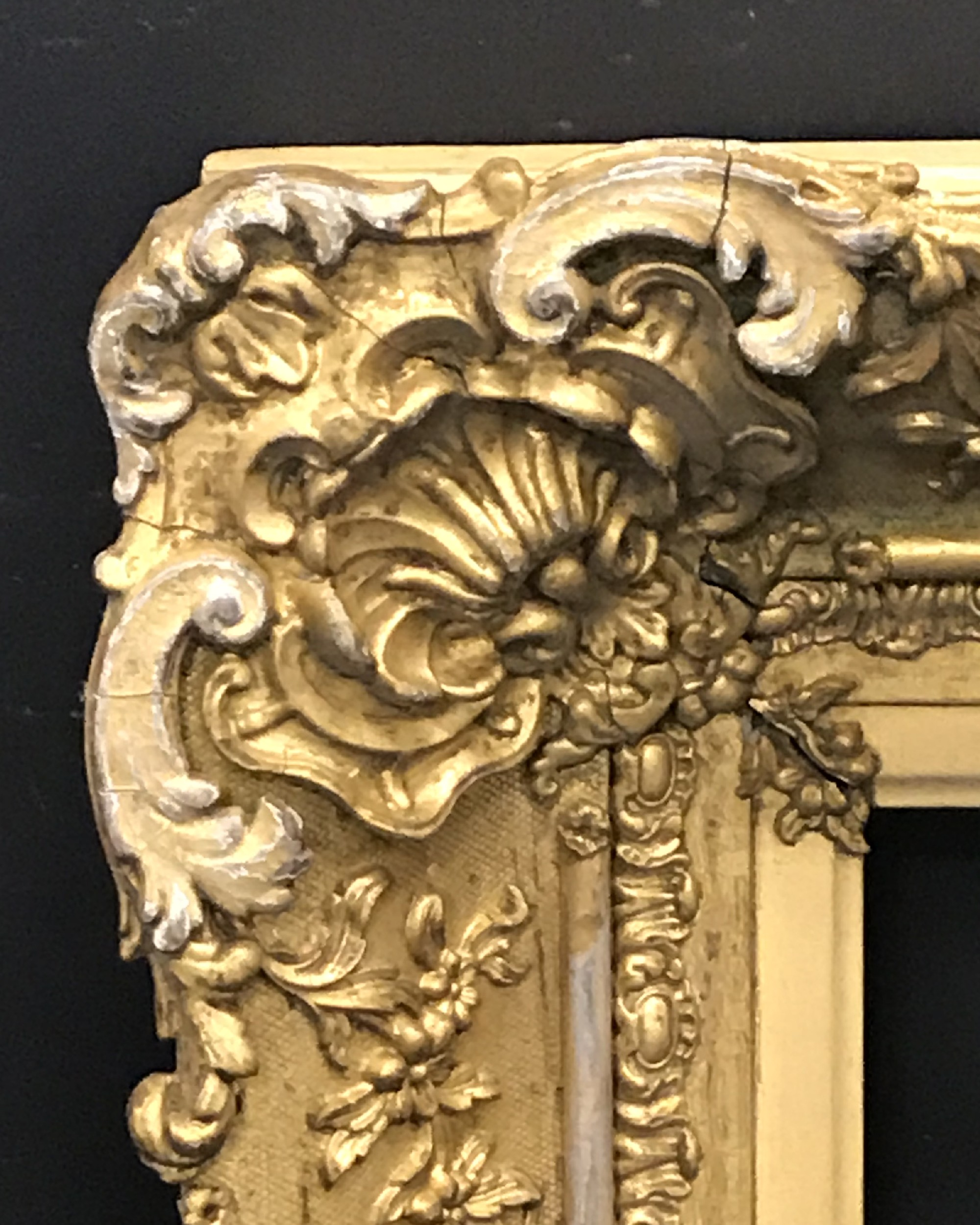 """Lot 46 - Early 19th Century English School. A Gilt Composition Frame, with Swept Corners, 18"""" x 15""""."""