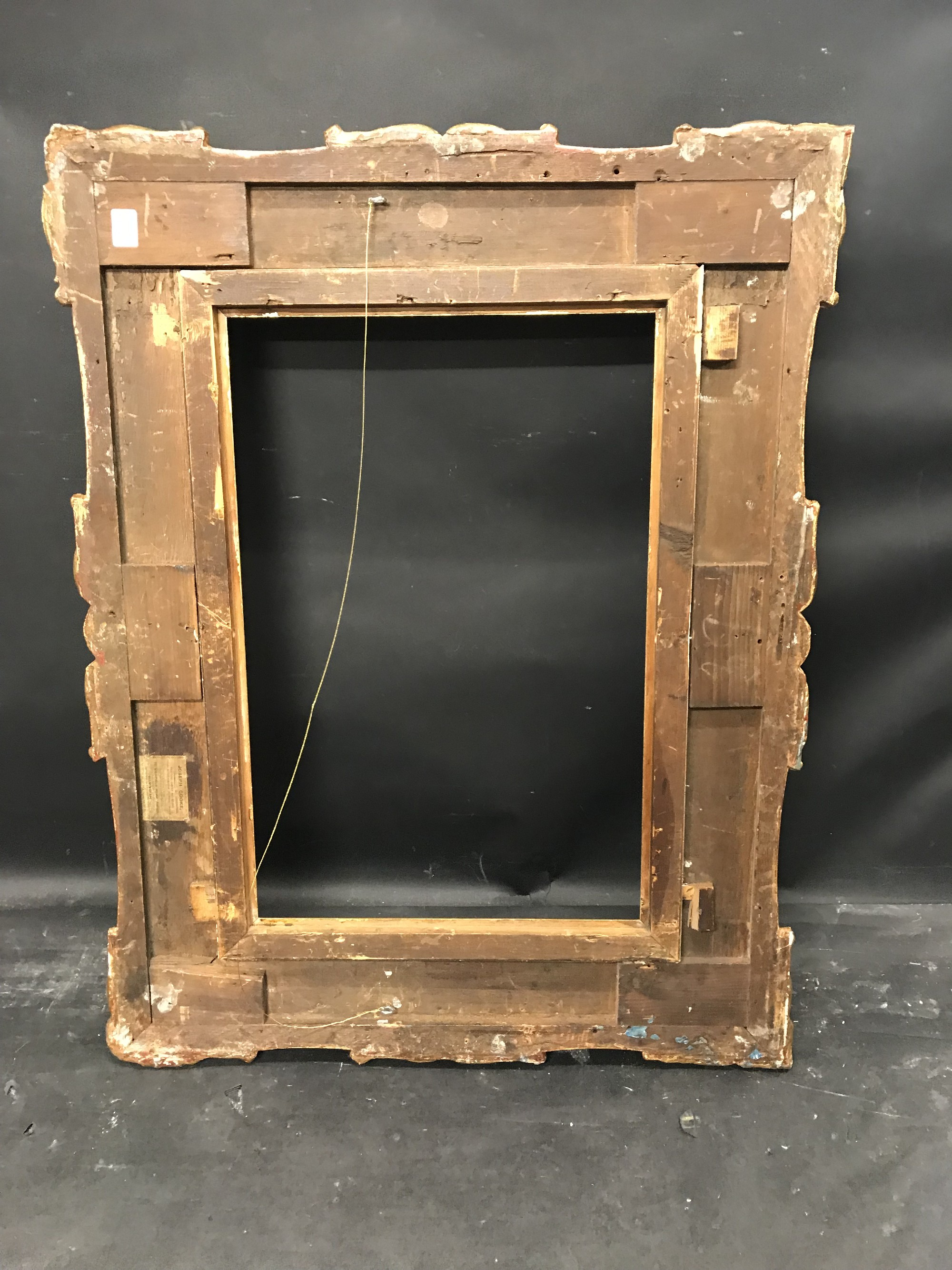 """Lot 31 - 19th Century English School. A Gilt Composition Frame, with Swept Centres and Corners, 24"""" x 16""""."""