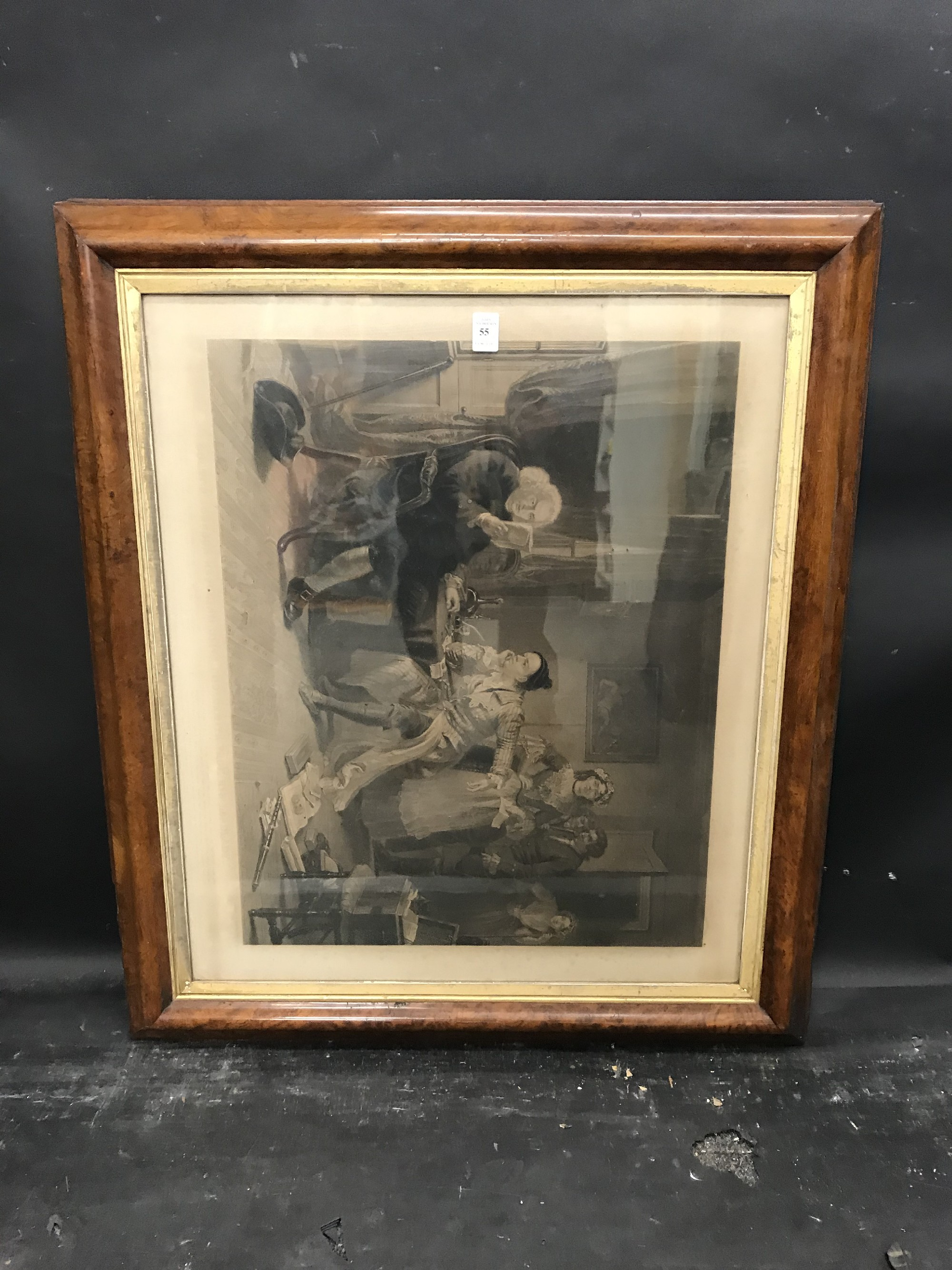 """Lot 55 - 19th Century English School. A Maple and Gilt Frame, with inset Print under glass, 26.25"""" x 22""""."""