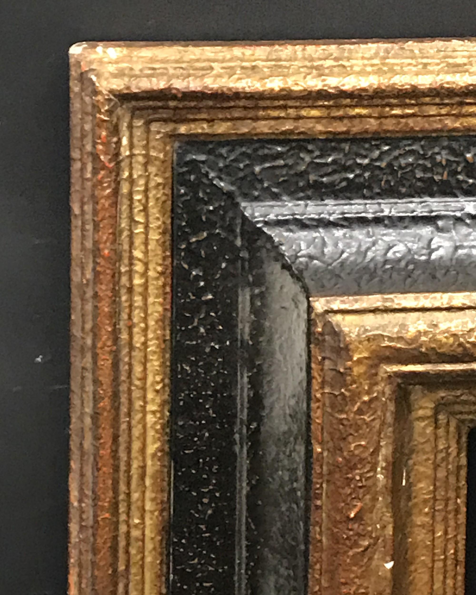 "Lot 15 - 20th Century European School. A Gilt and Black Composition Frame, 25.5"" x 23.5""."