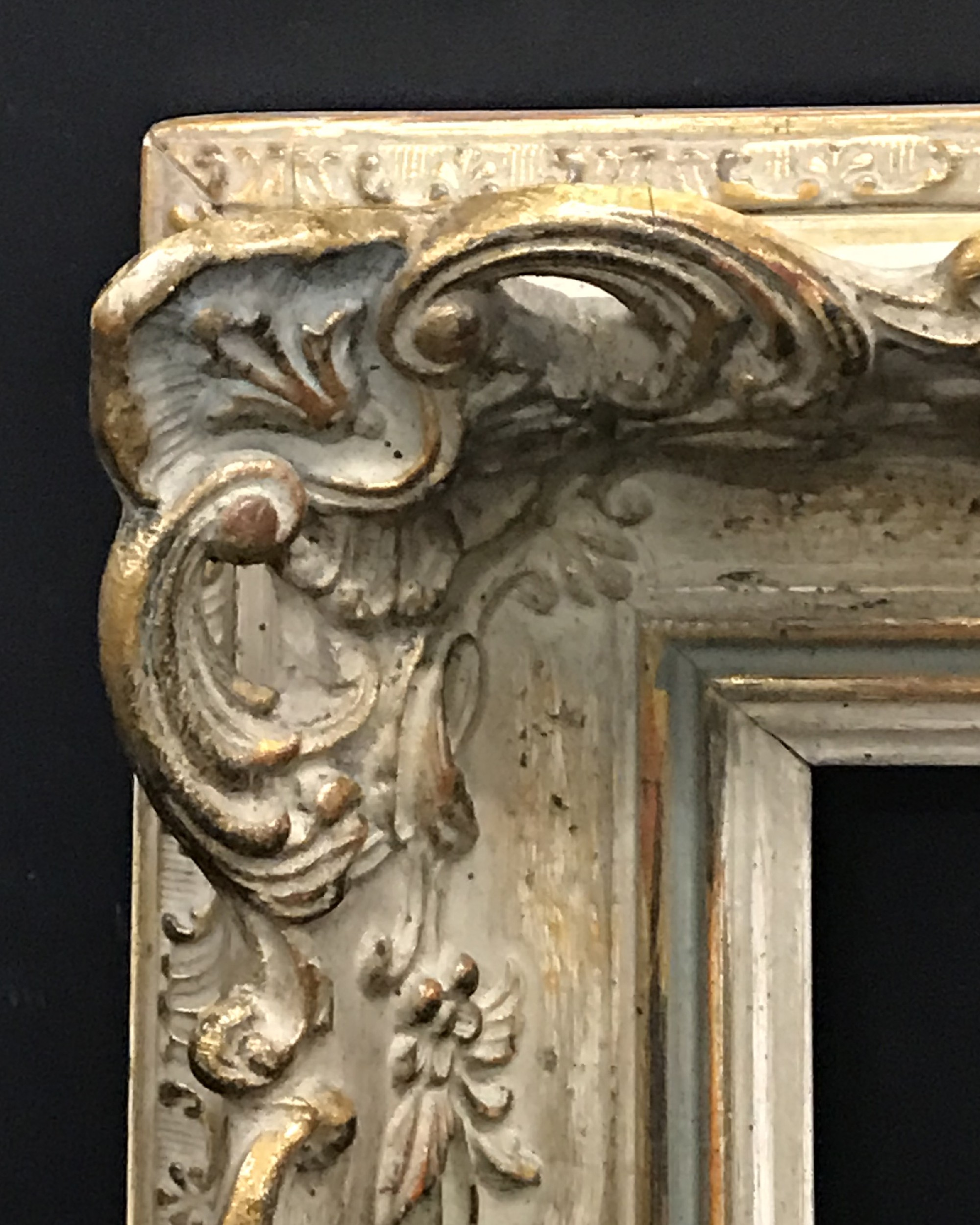 Lot 52 - 20th Century English School. A Gilt and Painted Composition Frame, with Swept and Pierced Centres