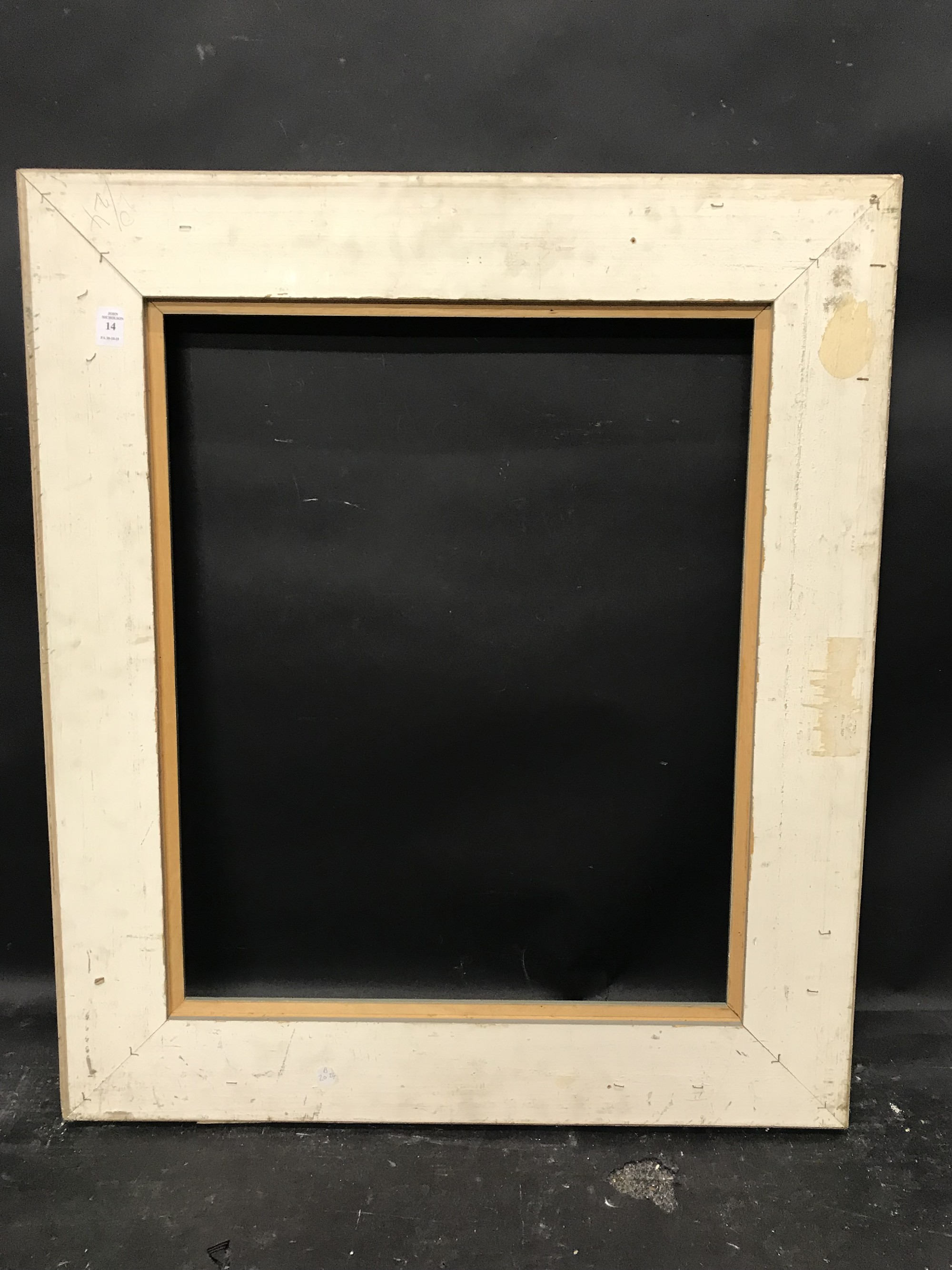 "Lot 14 - 20th Century English School. A Painted Composition Frame, 24"" x 20""."