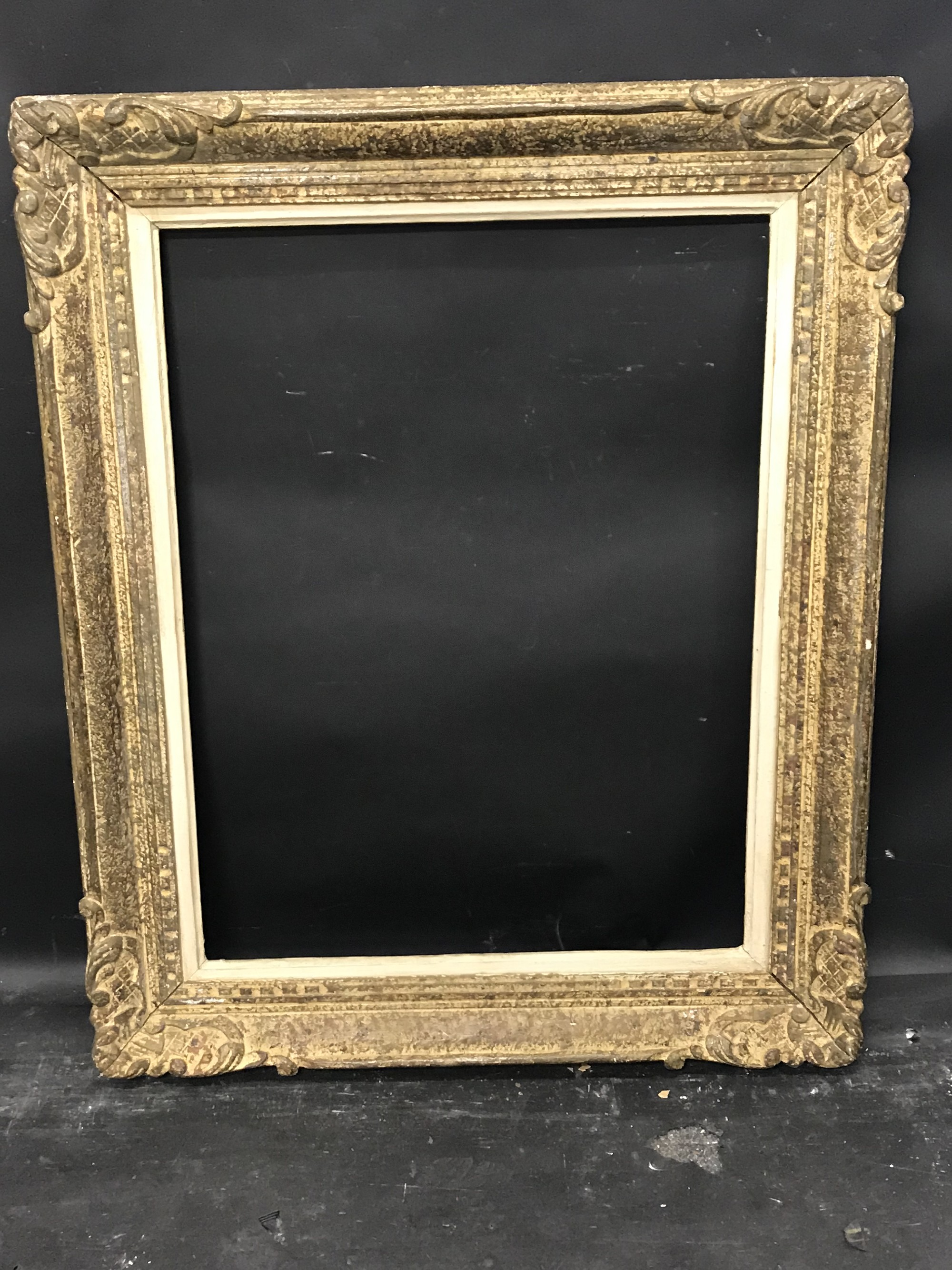 """Lot 26 - 19th Century French School. A Painted Carved Frame, 25.5"""" x 19.5""""."""