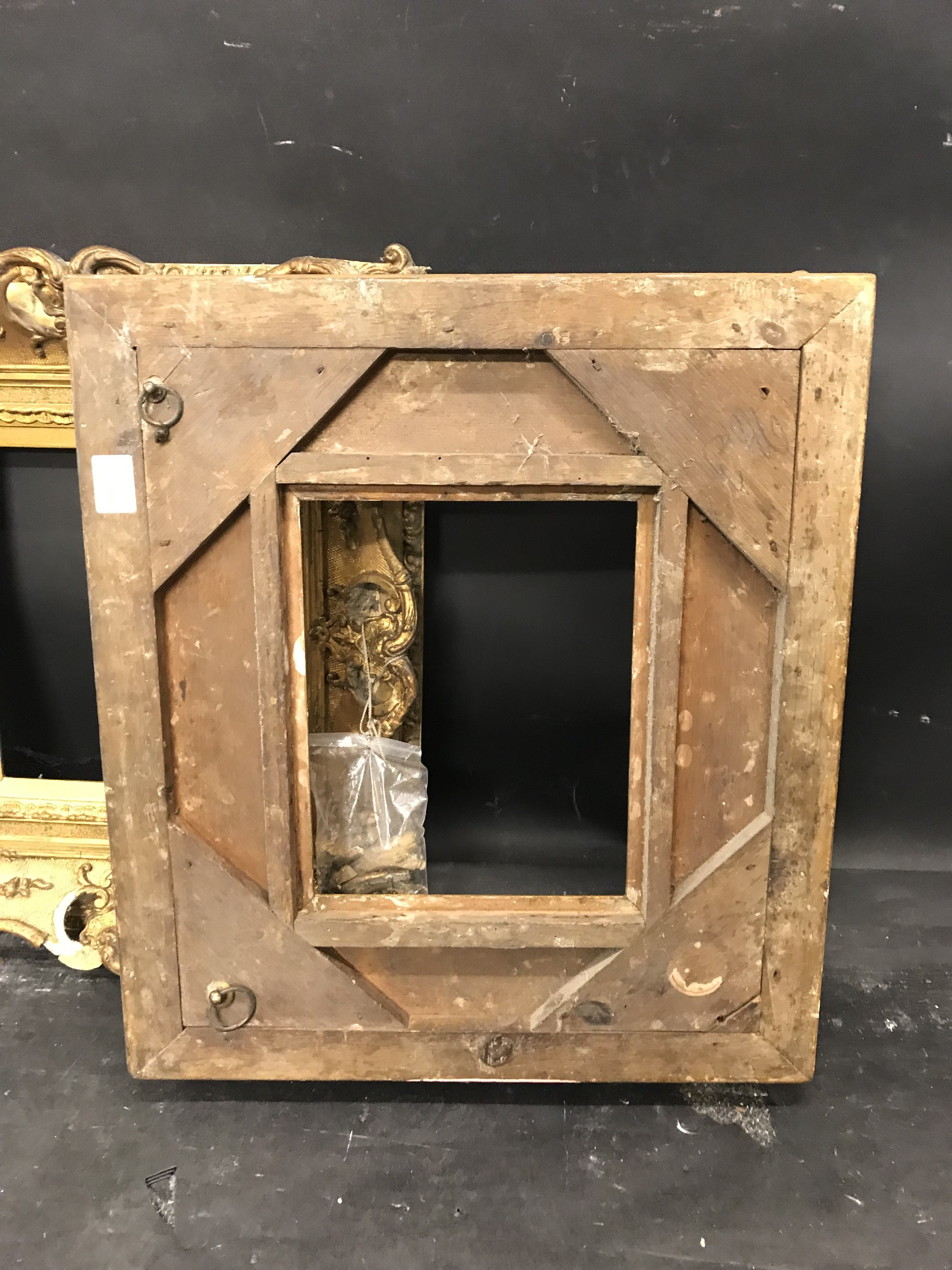 Lot 19 - 19th Century English School. A Gilt Composition Frame, with Swept and Pierced Centres and Corners,